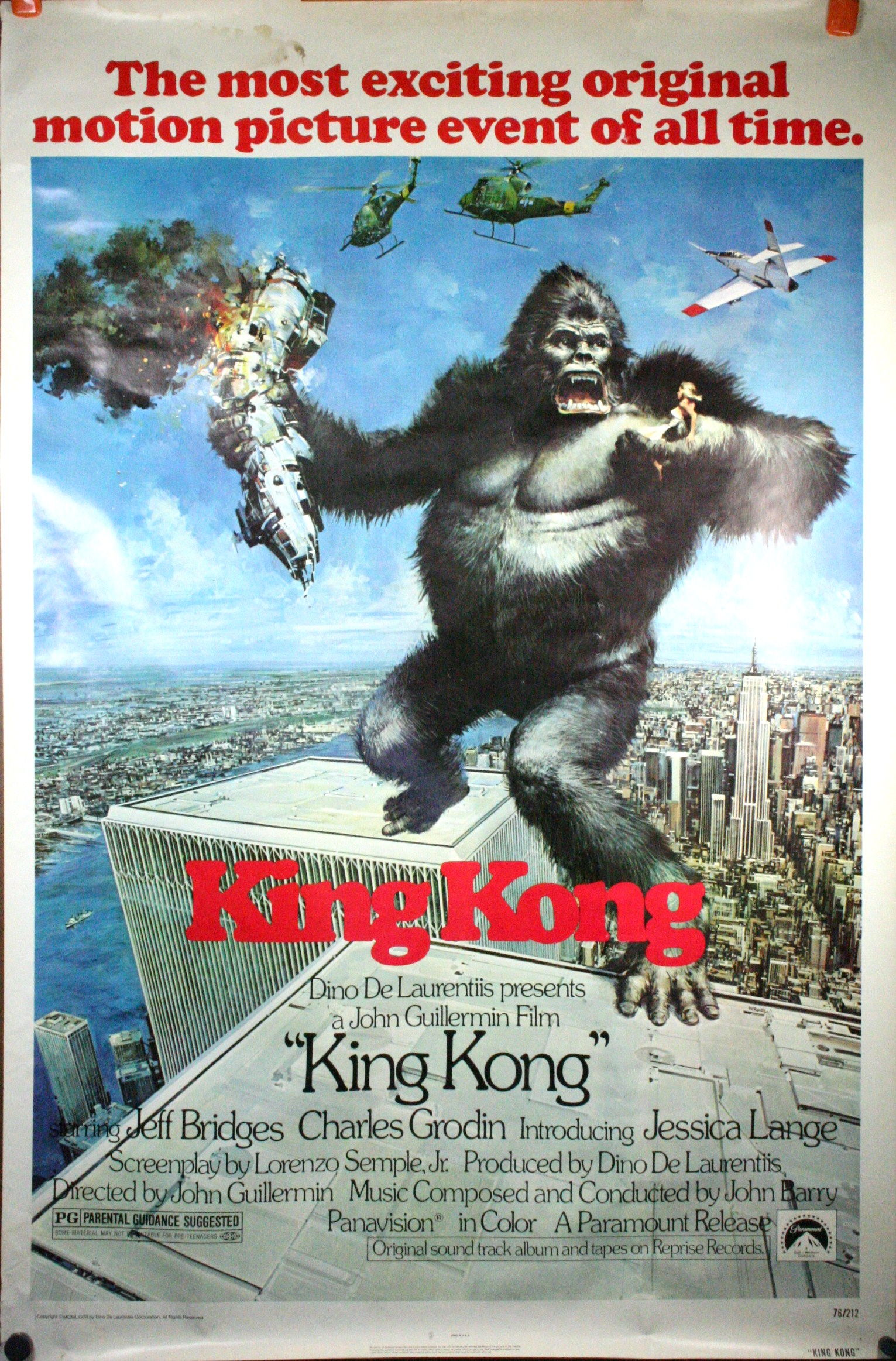 Image result for king kong 1976 official poster