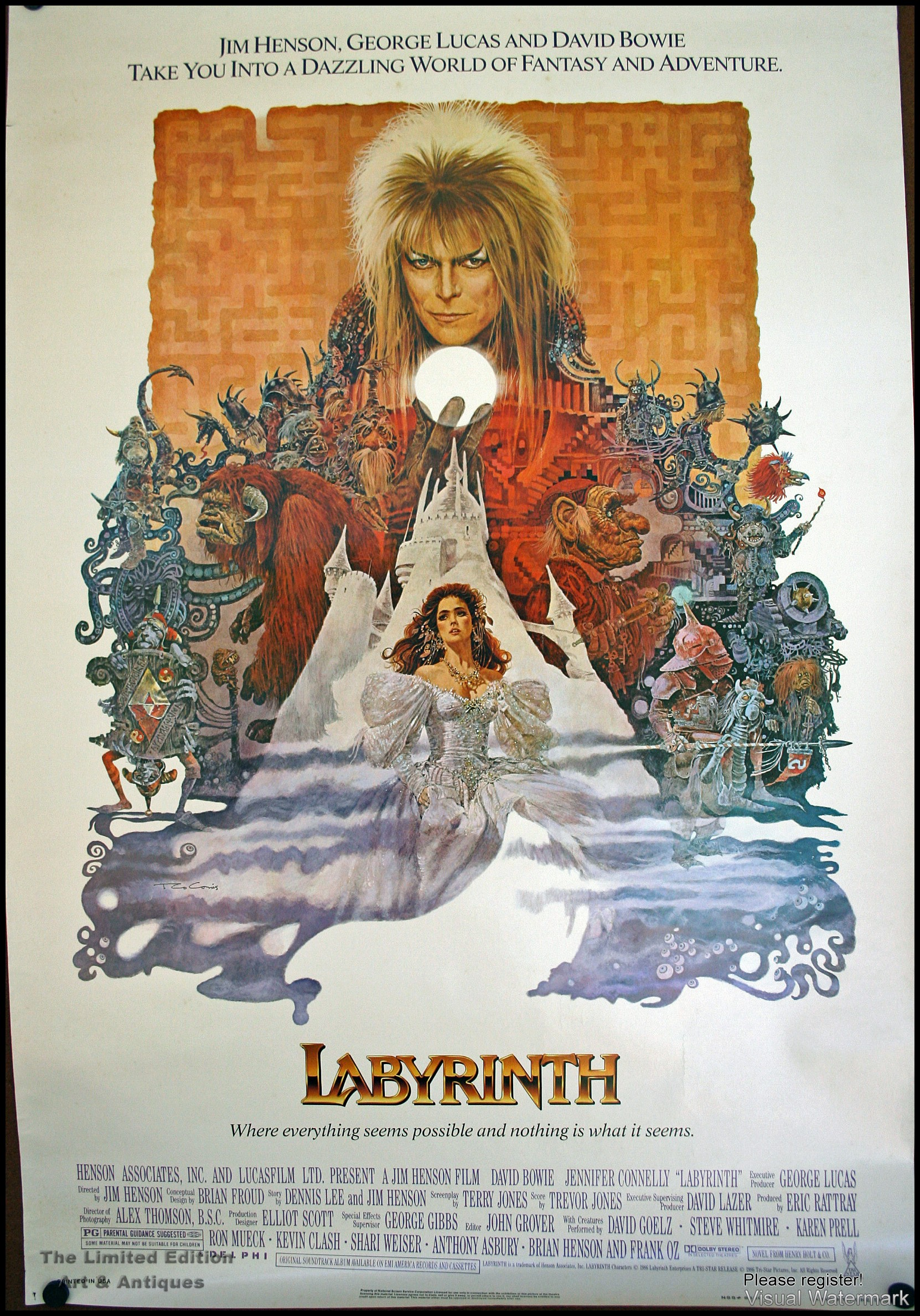 labyrinth �1 sheet� david bowie poster