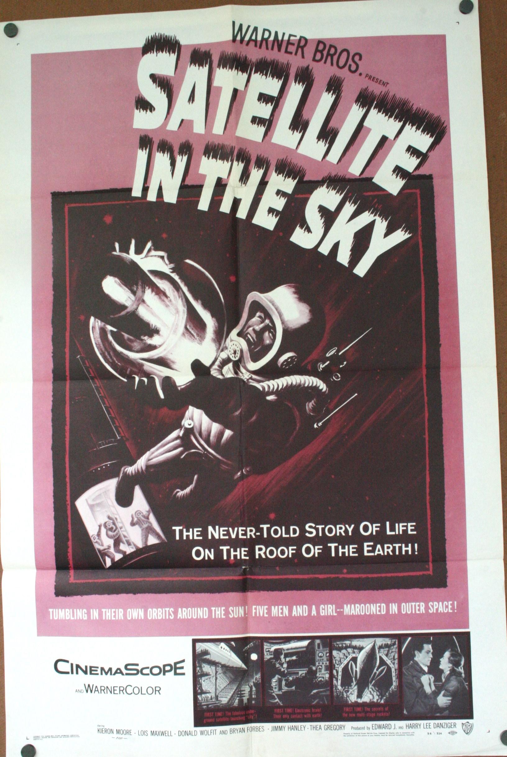 SATELLITE IN THE SKY. 1950u2019s Sci Fi Movie Poster
