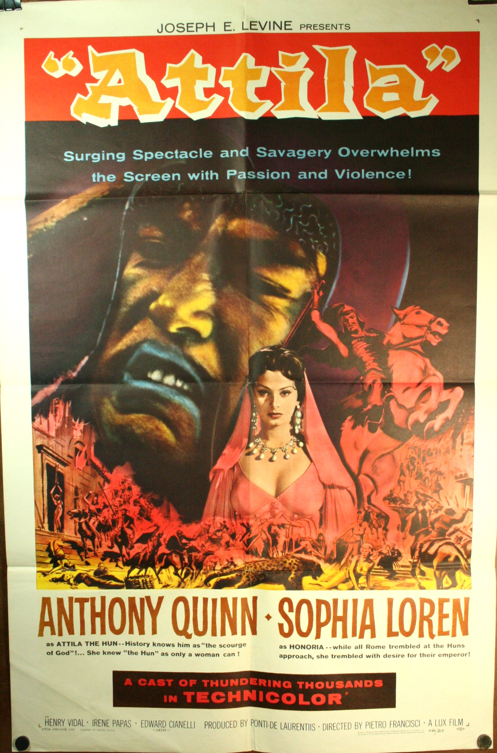 attila sophia loren movie poster