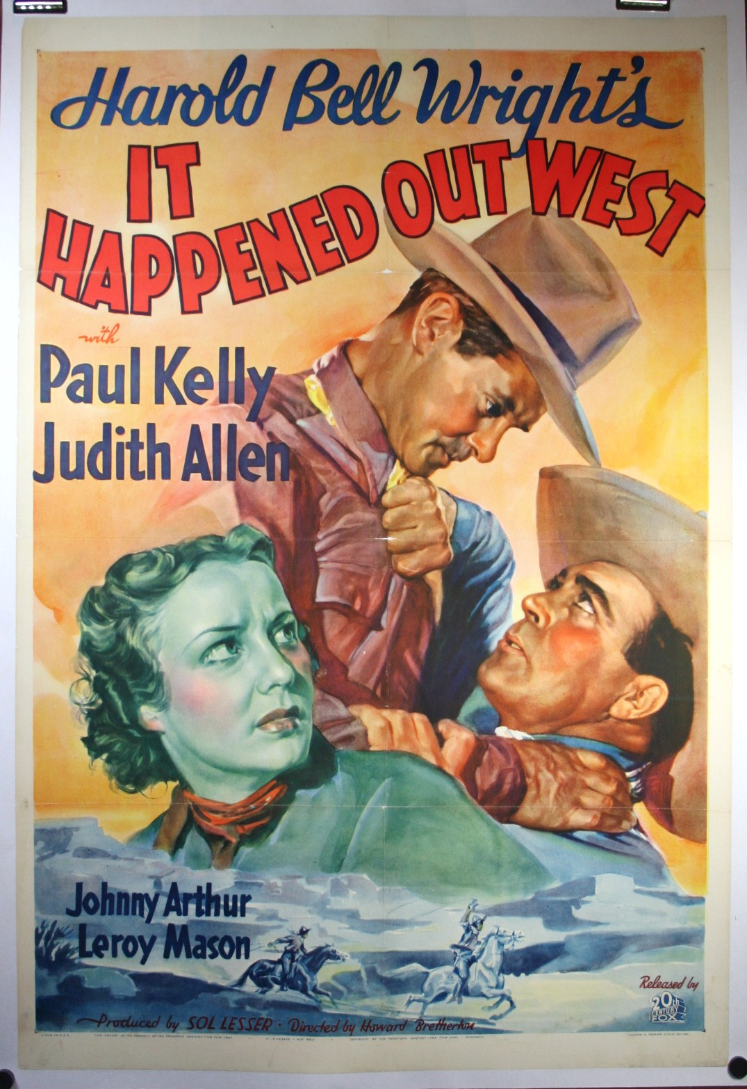 it happened out west � western cowboy movie poster