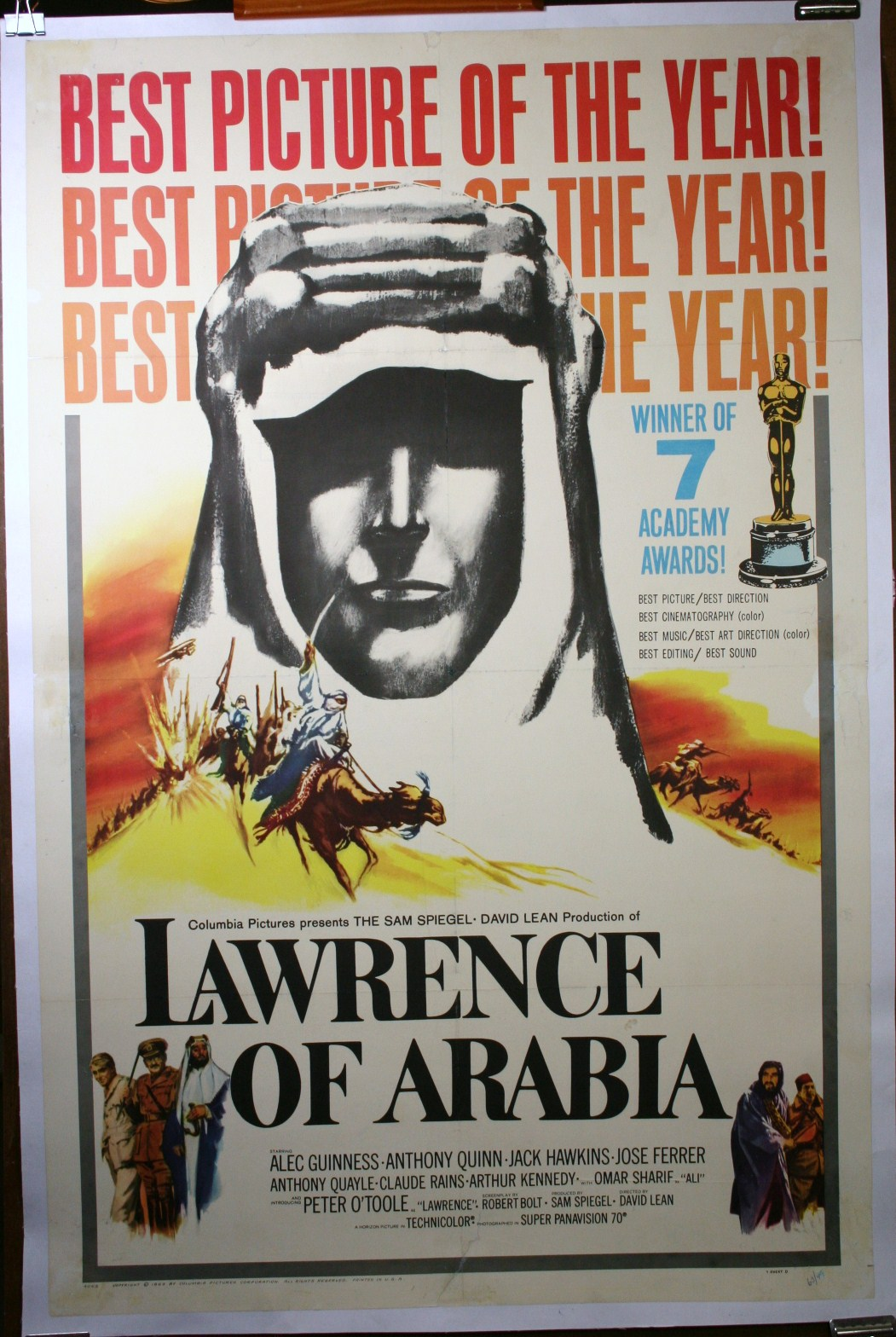 Lawrence Of Arabia Original Movie Poster