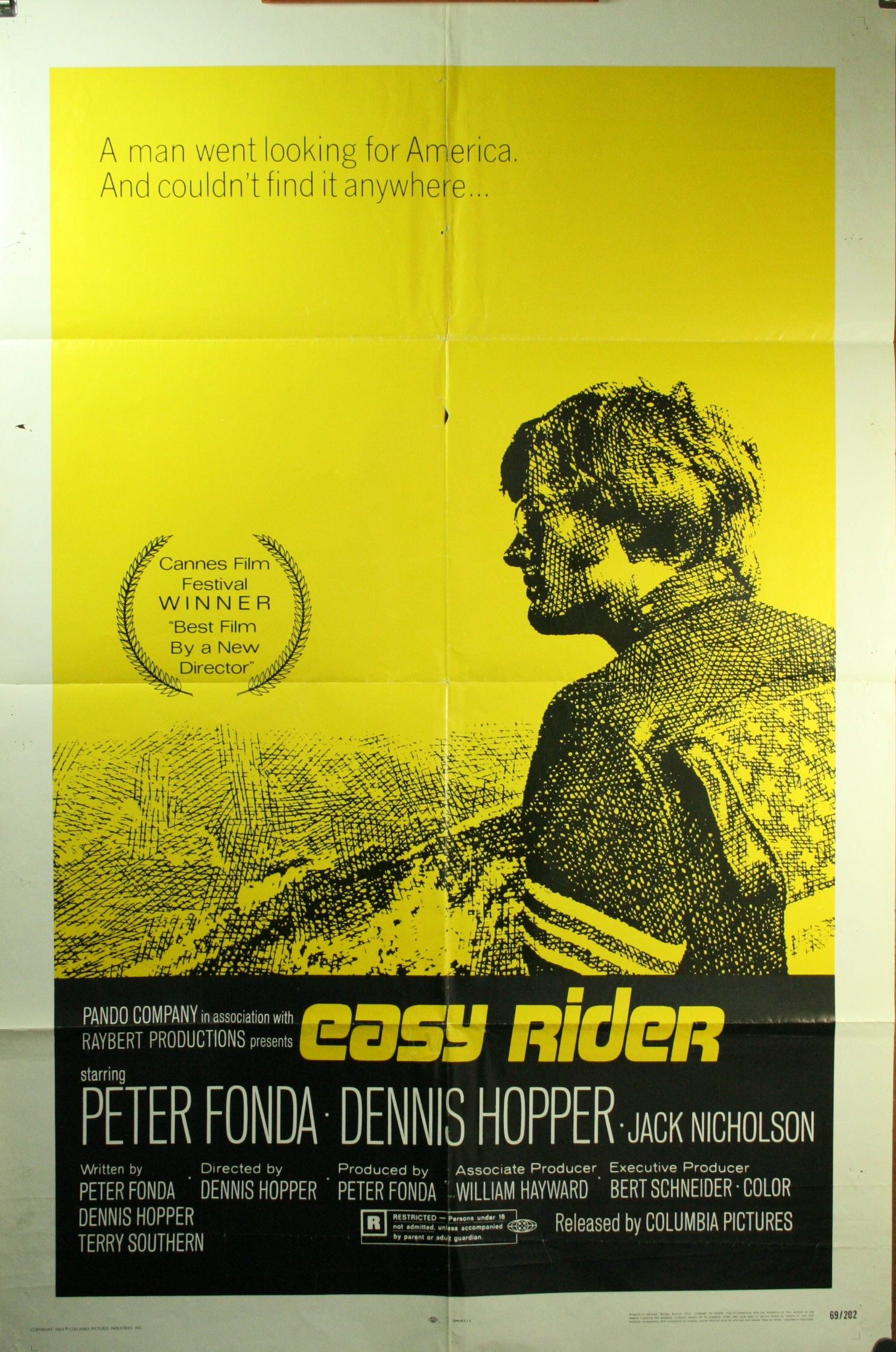 EASY RIDER Original 1 Sheet Movie Poster Clint Eastwood 1969
