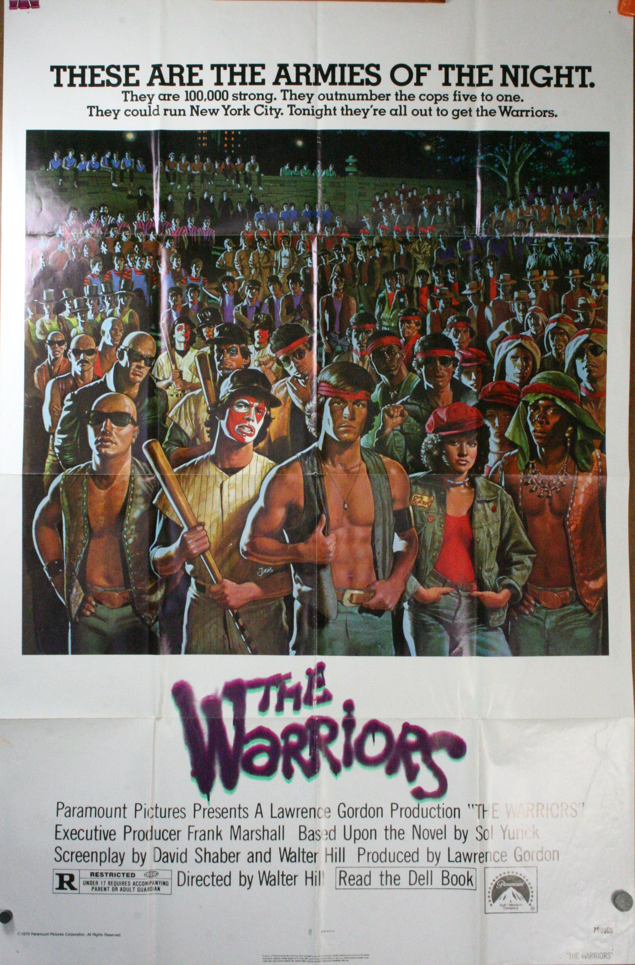THE WARRIORS  Original Urban Gang Movie PosterThe Warriors Movie Poster