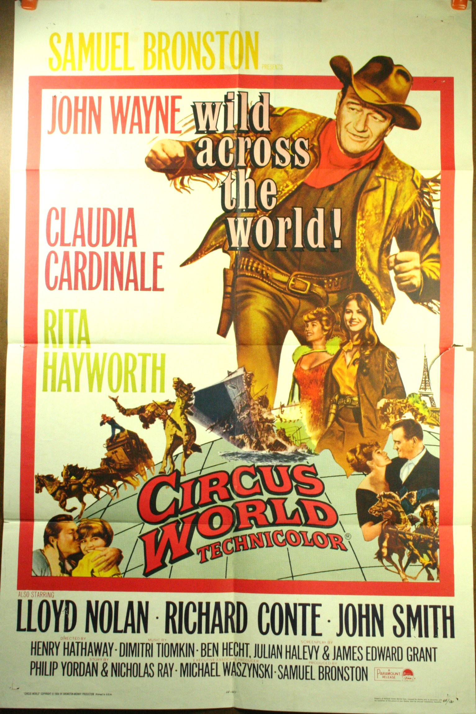 John wayne movie poster original 1 sheet movie poster