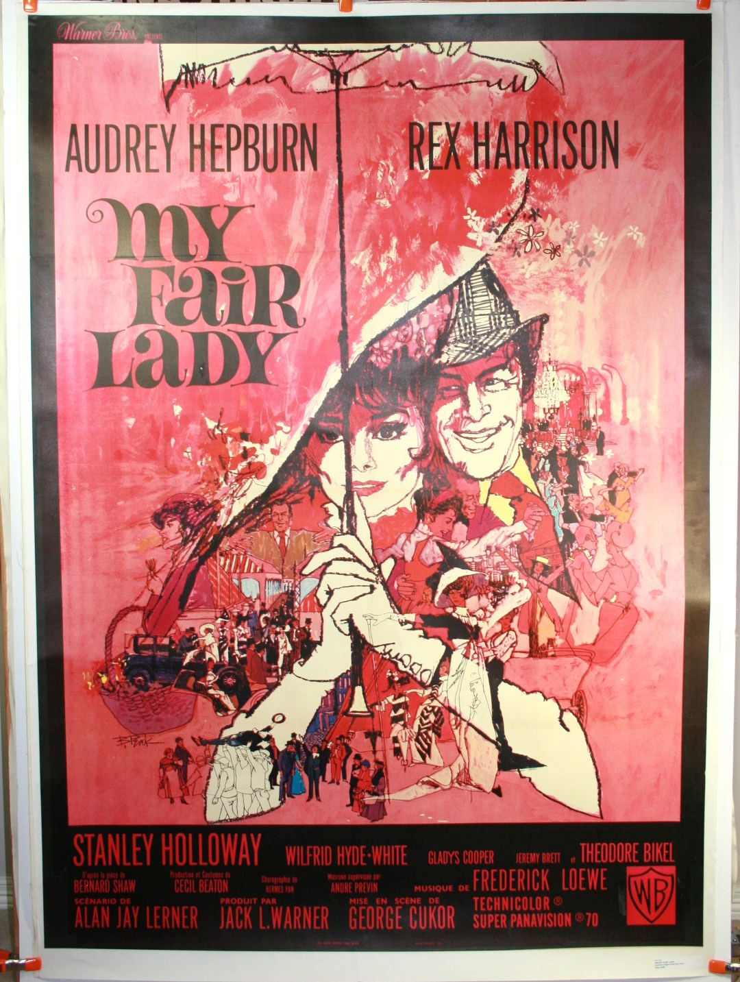 My Fair Lady Audrey Hepburn French Movie Poster