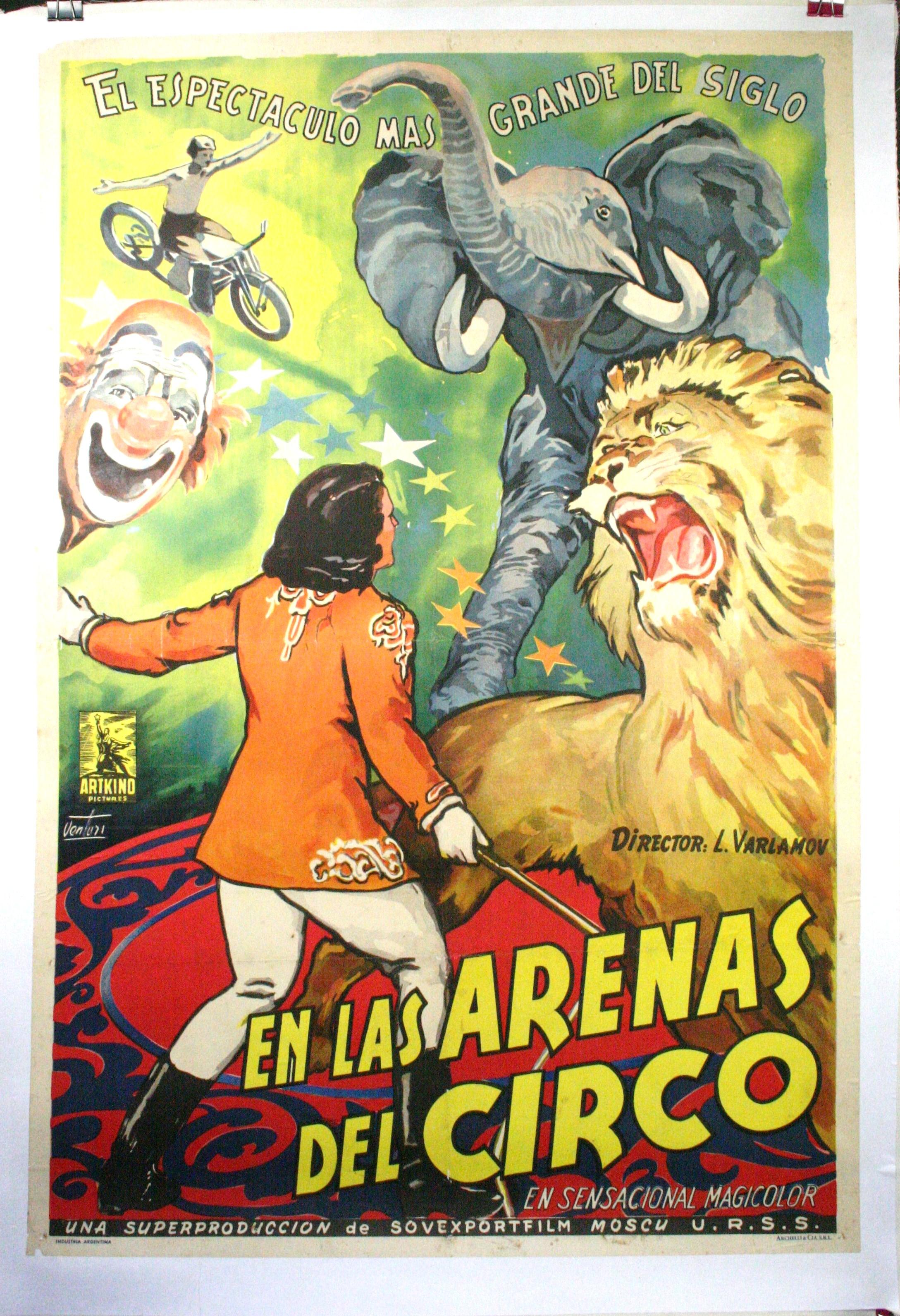 EN LAS ARENAS DEL CIRCO u2013 Argentinian Circus Poster
