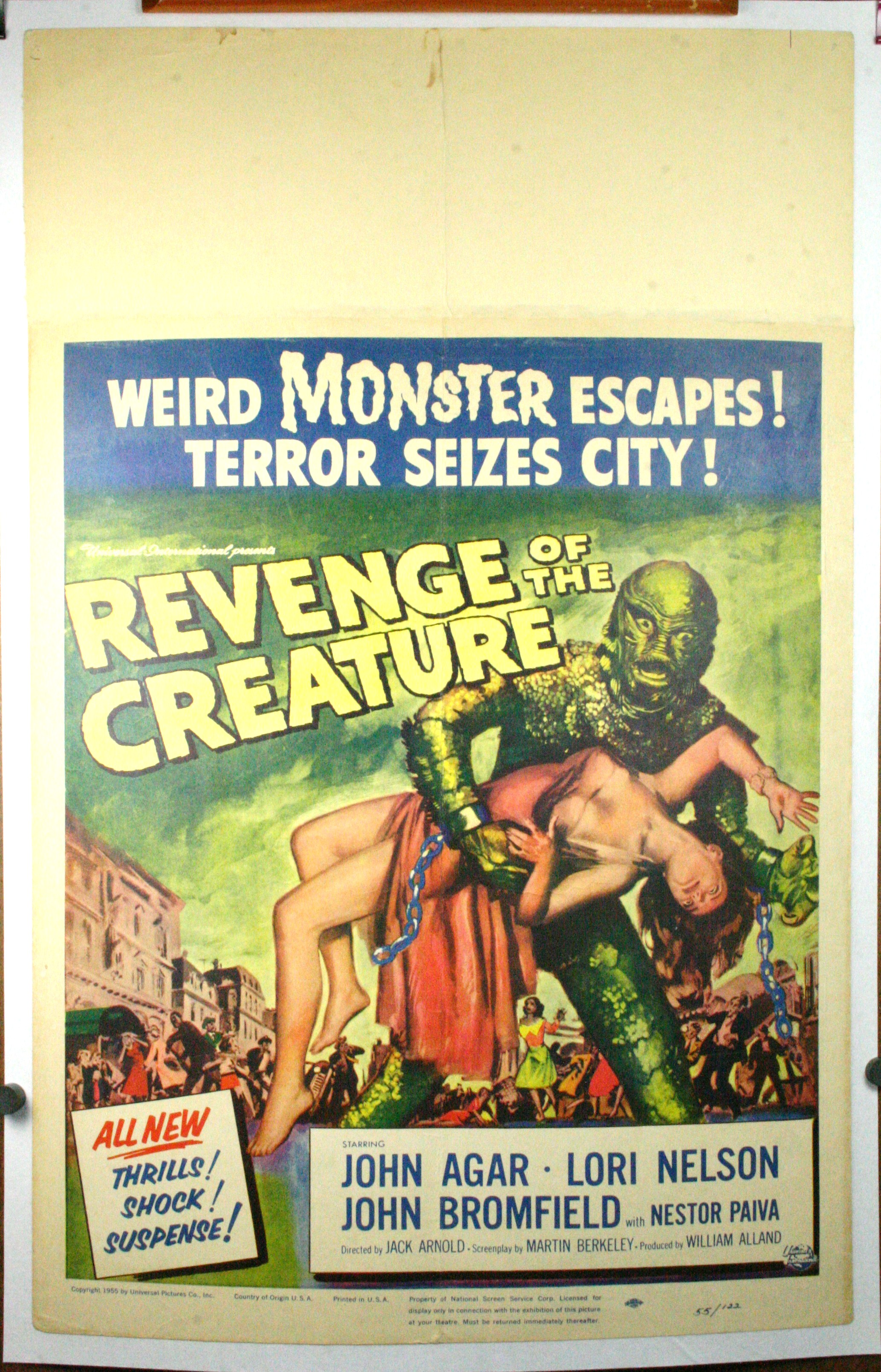 revenge of the creature  original sci fi window card