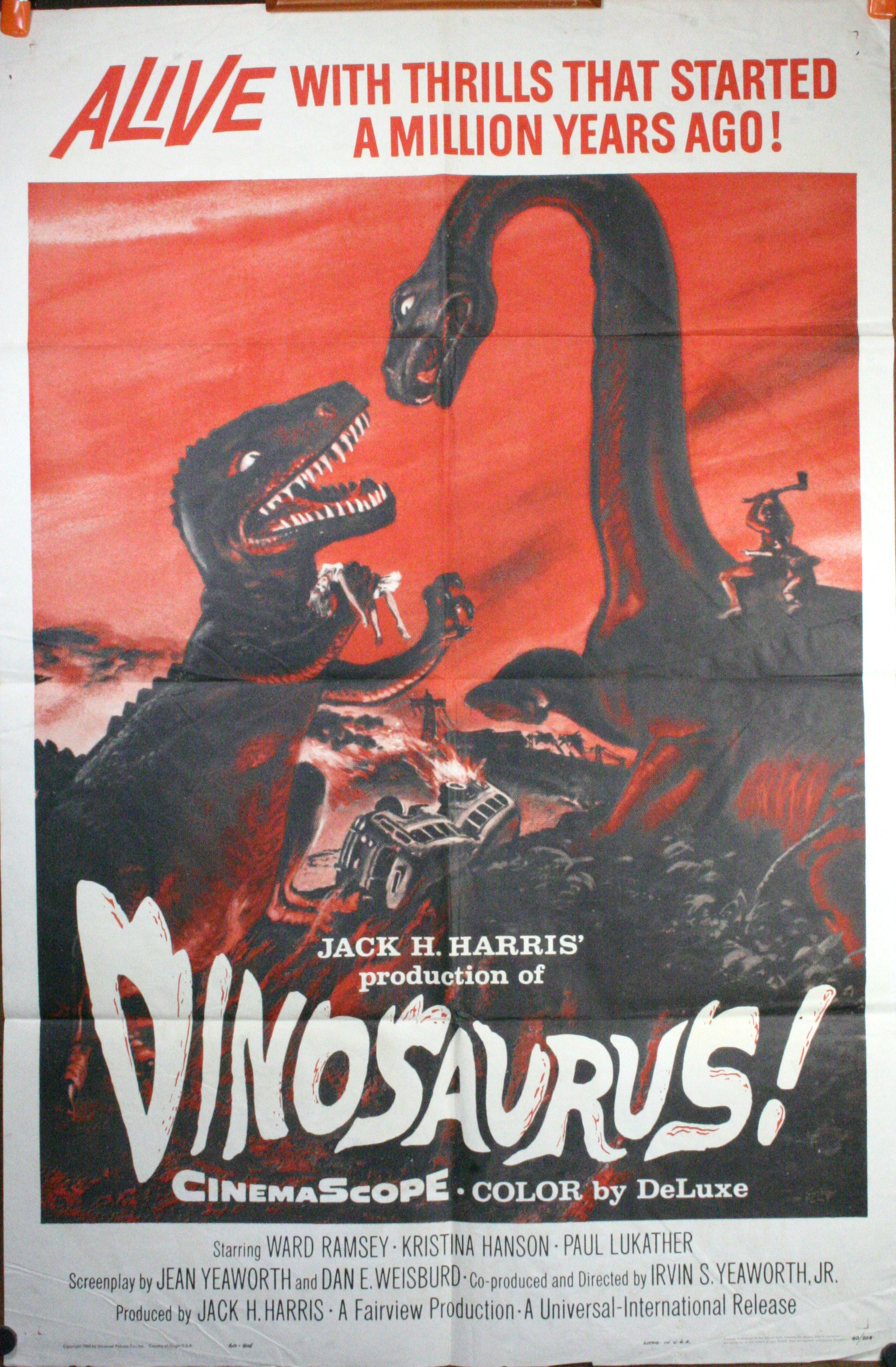 dinosaurus original sci fi vintage movie poster. Black Bedroom Furniture Sets. Home Design Ideas