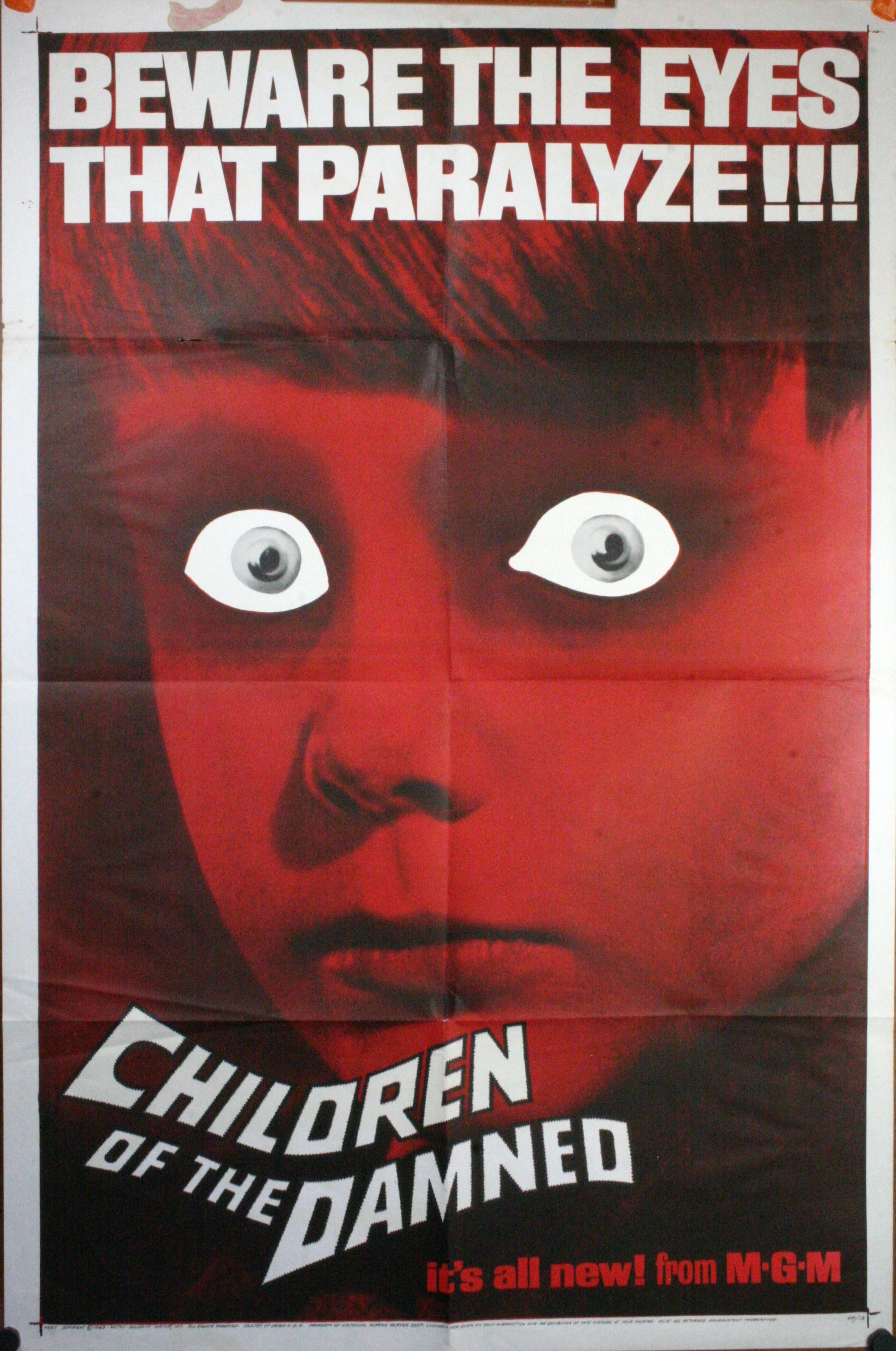 CHILDREN OF THE DAMNED, Original Horror Movie Poster