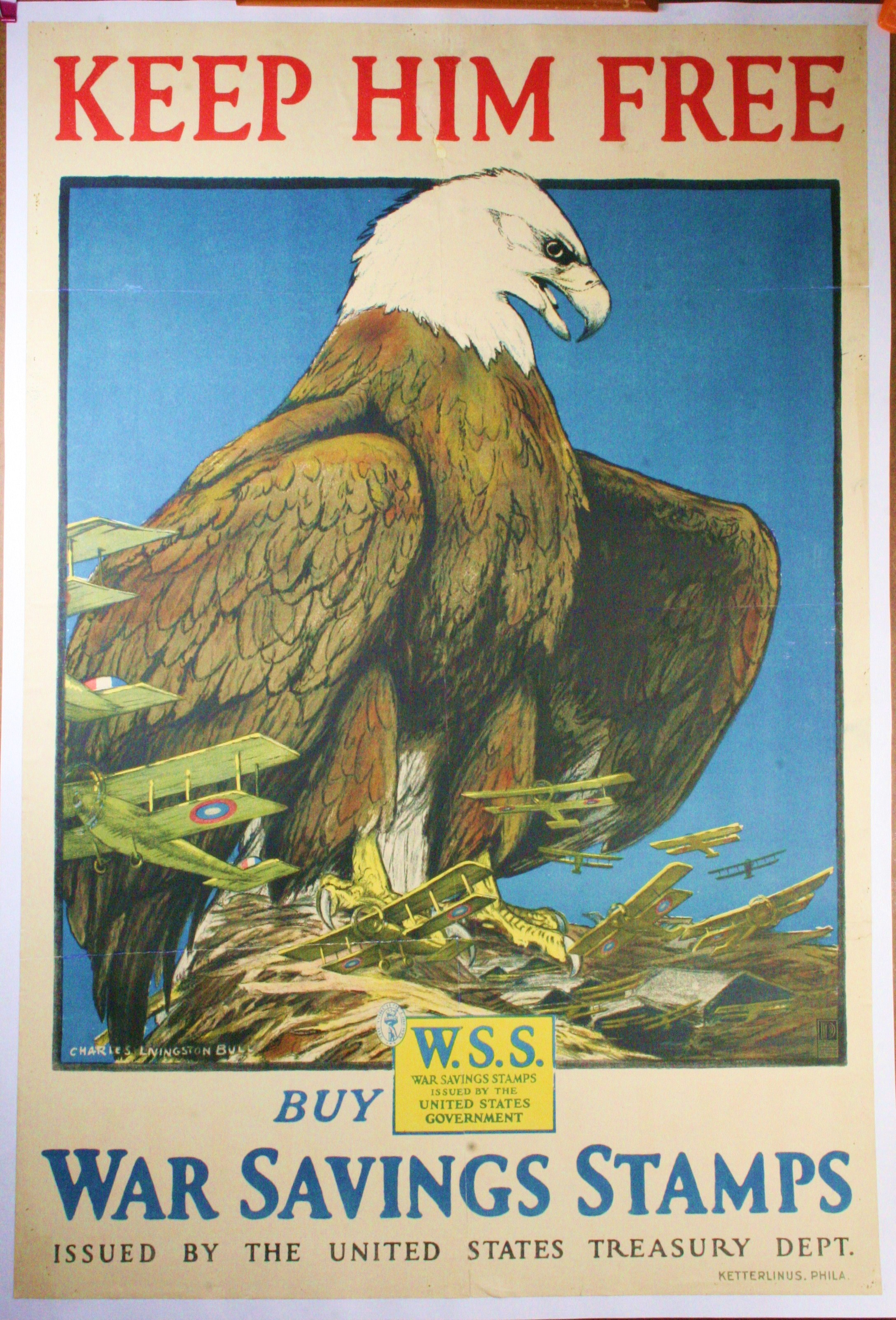 "WW1 Poster ""Keep Him Free"", designed by Charles ..."