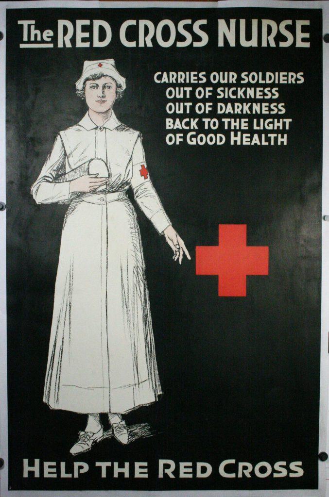 Red Cross Nurse An Original Ww1 Propaganda Poster