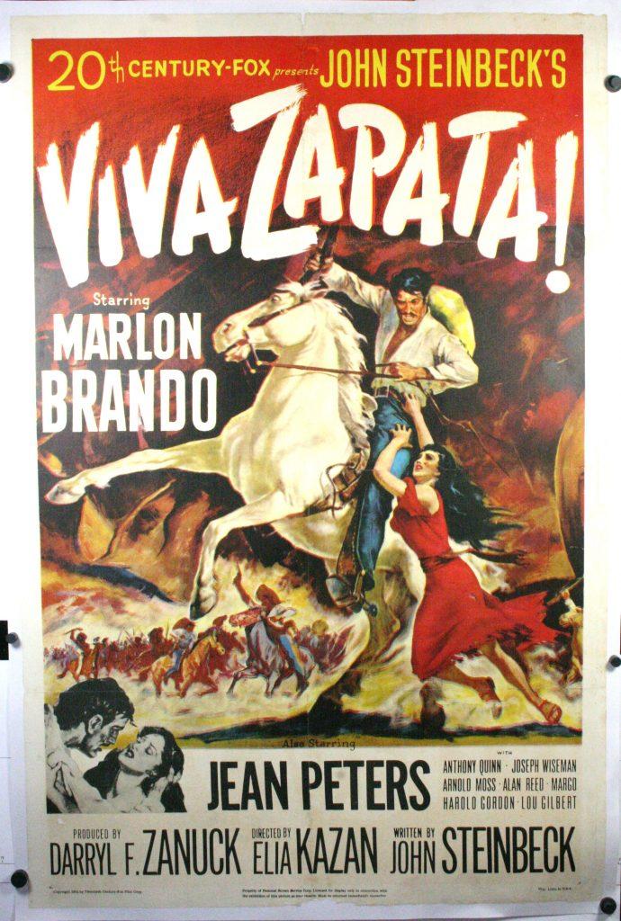 viva zapata marlon brando original vintage movie poster