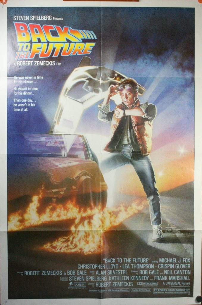 back to the future a stephen spielberg vintage movie poster