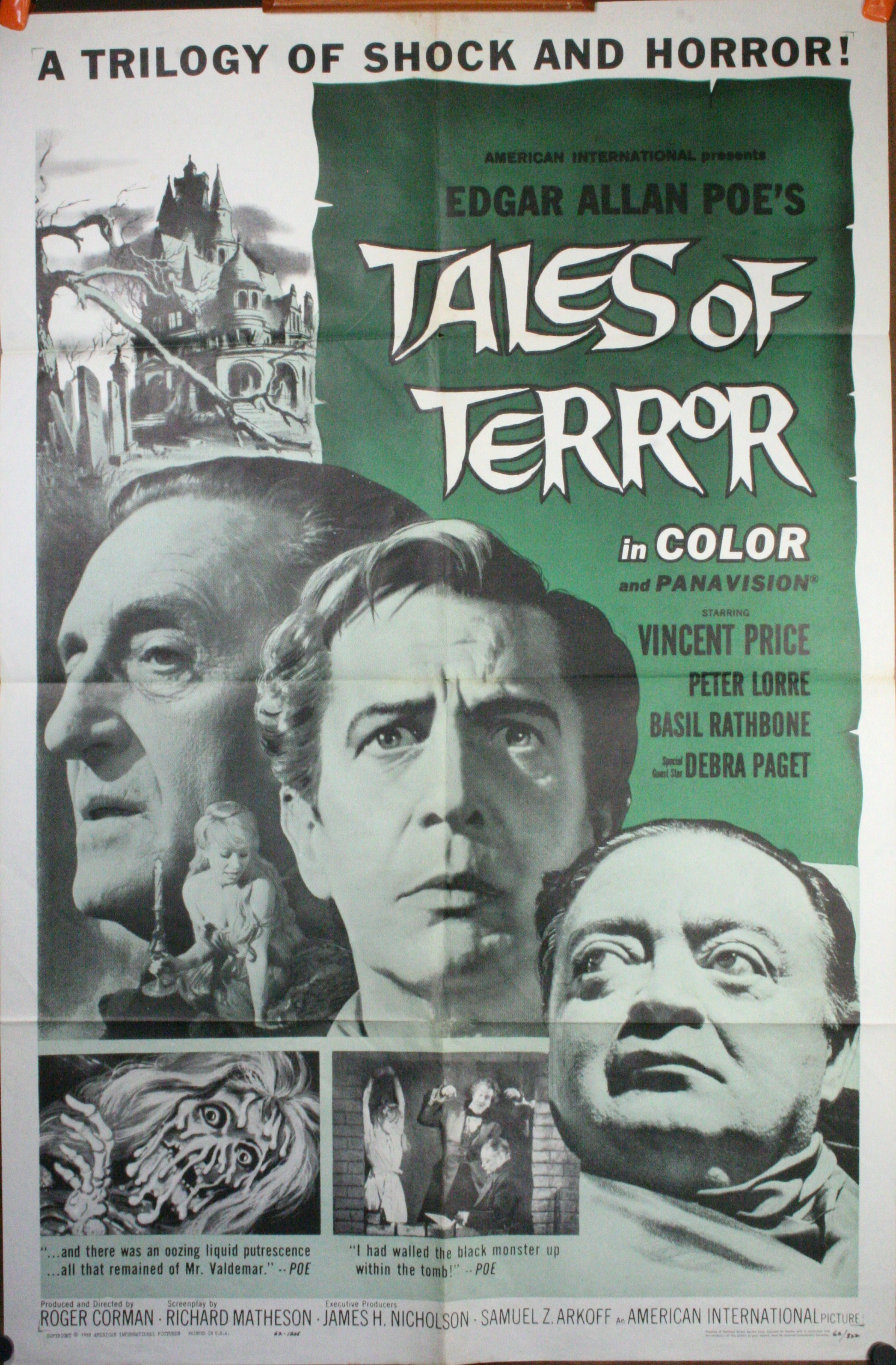 Tales Of Terror Original Vintage Horror Poster