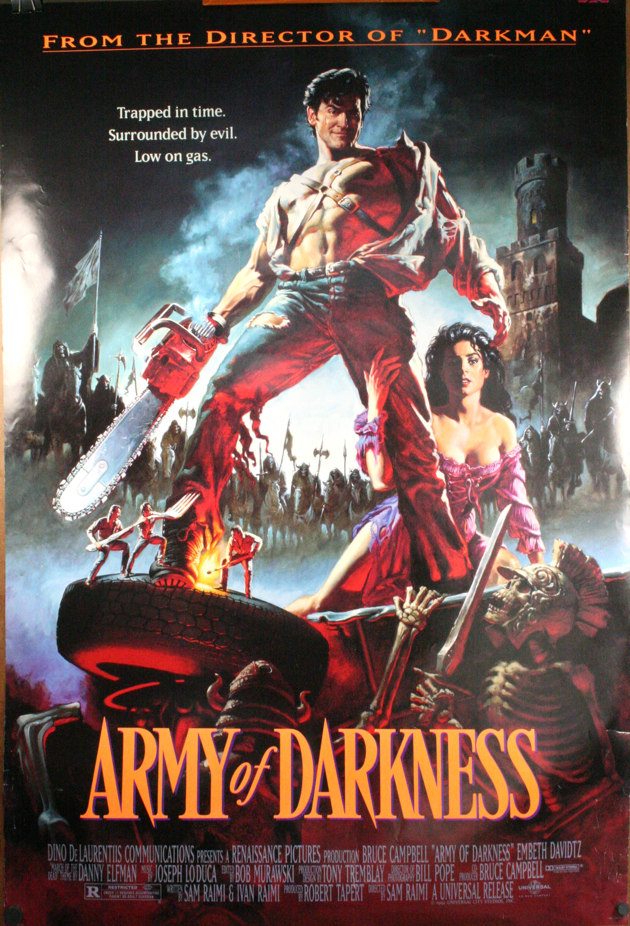 ARMY OF DARKNESS, Bruce Campbell Sam Raimi Original Movie ...