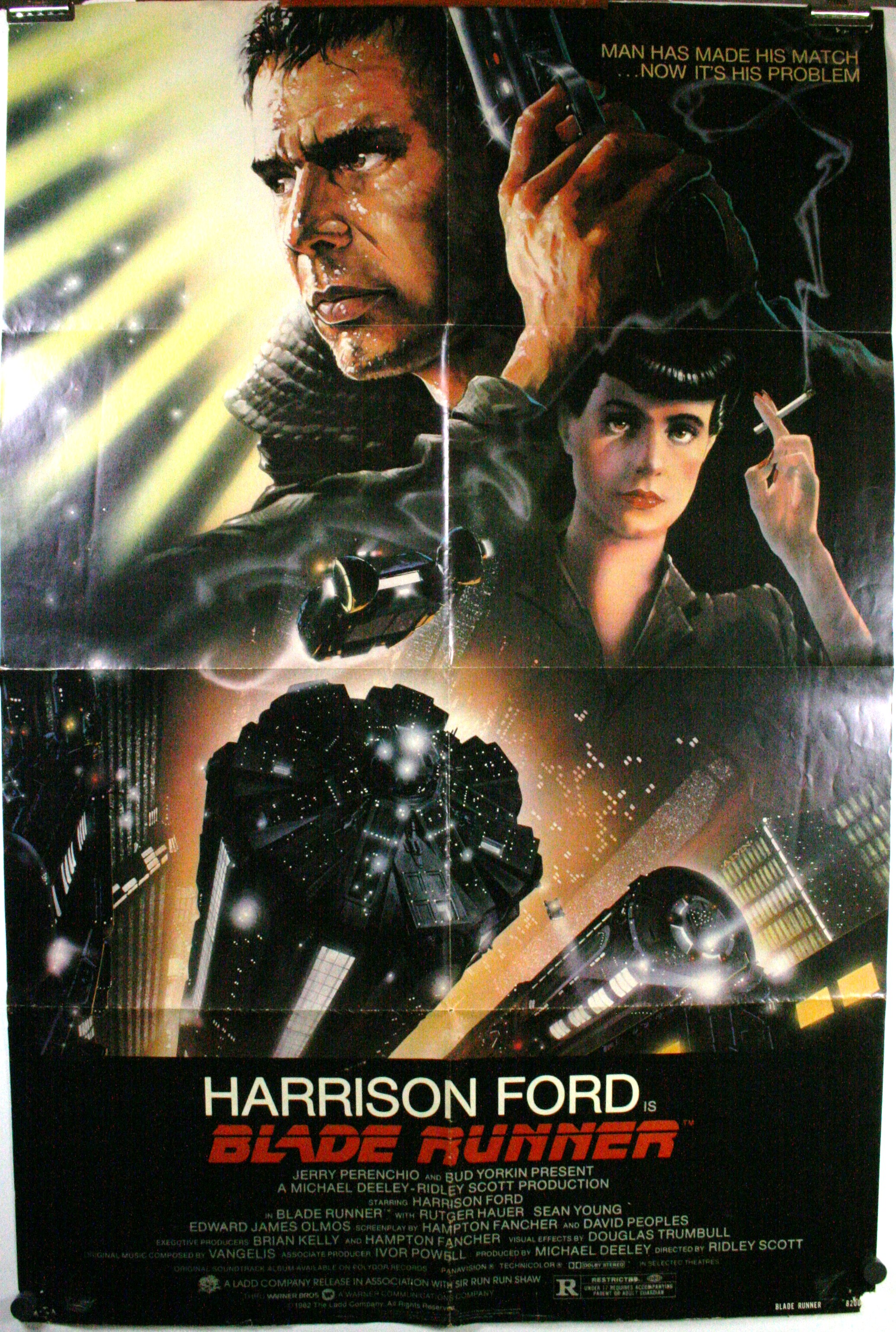 Blade Runner Harrison Ford Original Movie Poster