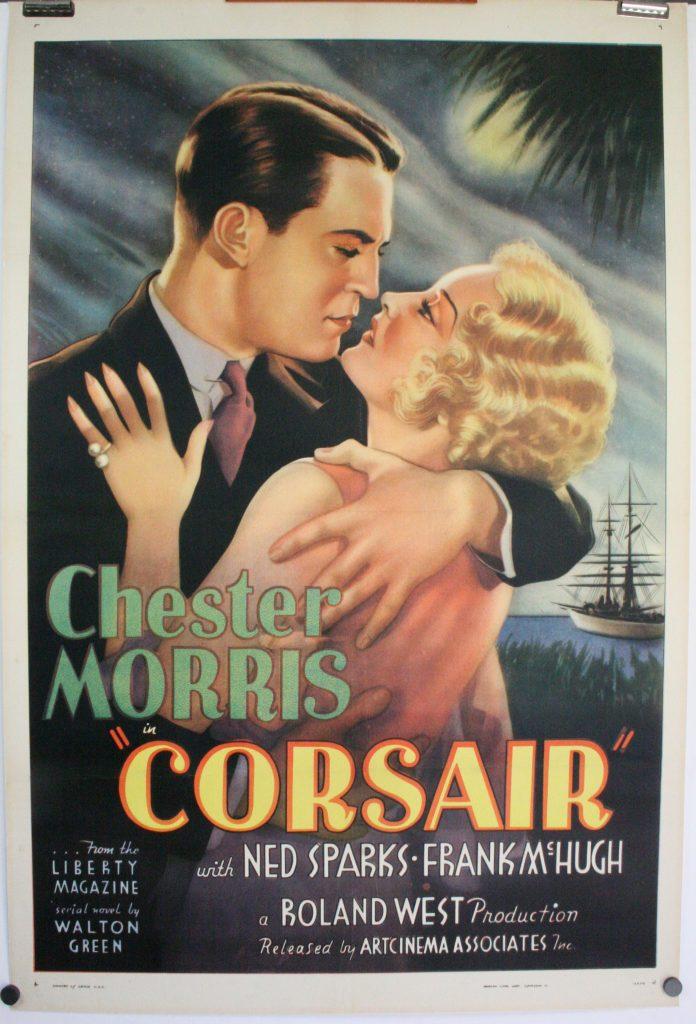 CORSAIR, Original Vintage Movie Poster