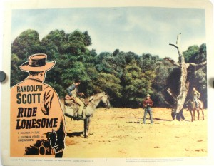 Ride Lonesome Starring Randolph Scott Set Of 8 Lobby Cards