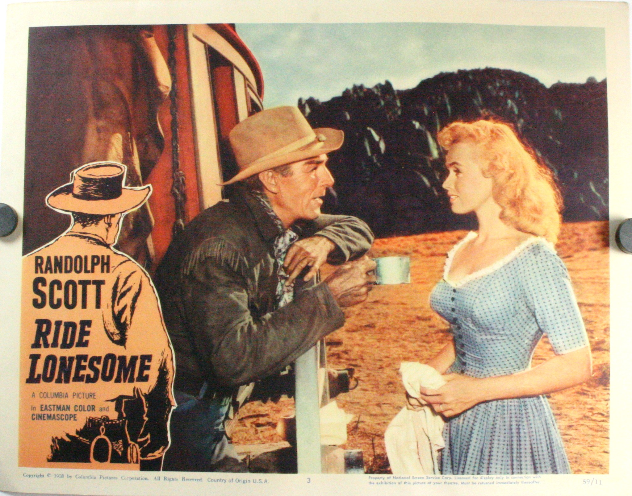 Vintage Signs For Sale >> RIDE LONESOME STARRING RANDOLPH SCOTT, Set of 8 Lobby Cards
