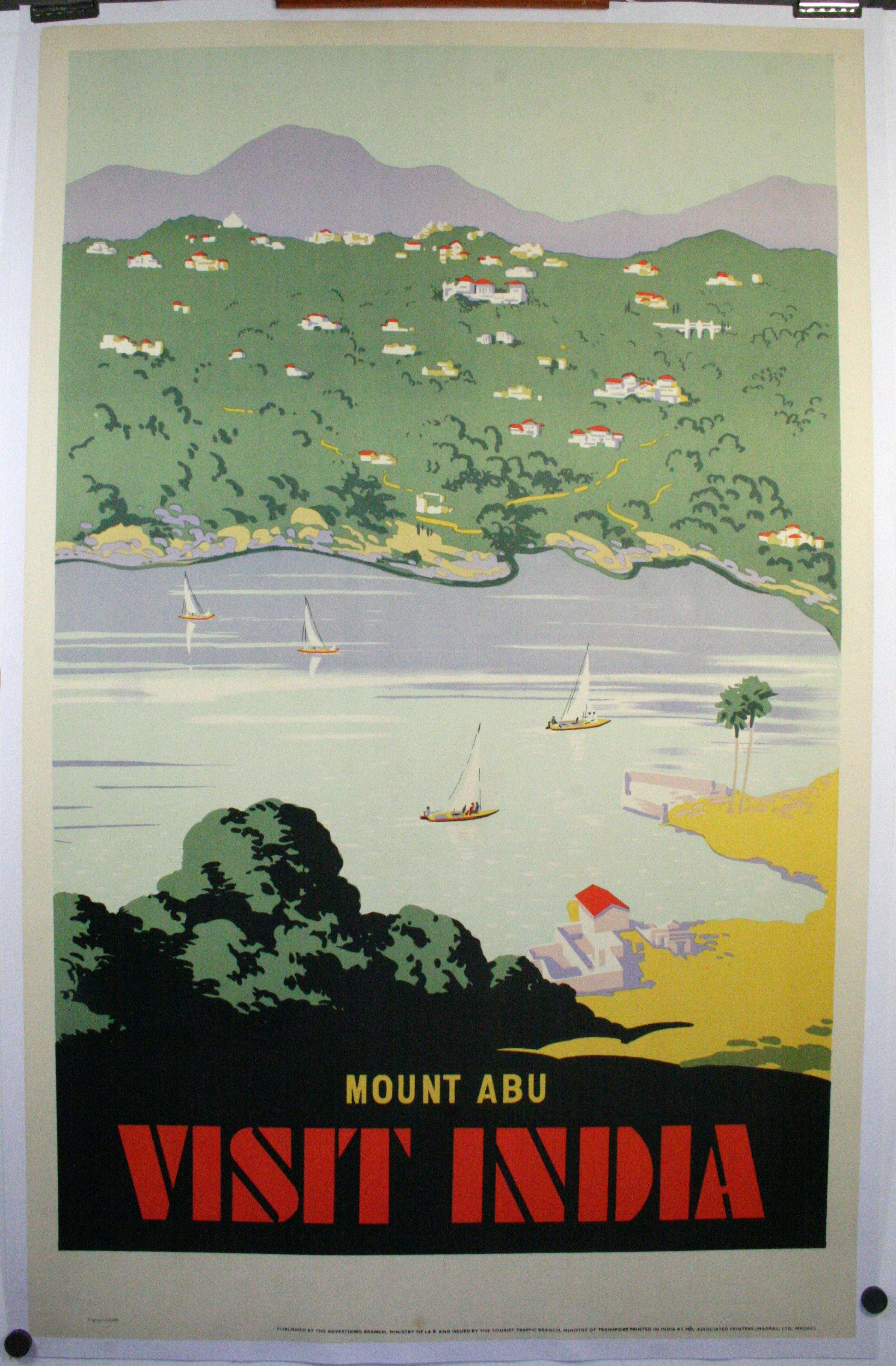 Mount Abu Visit India Original Vintage Travel Poster