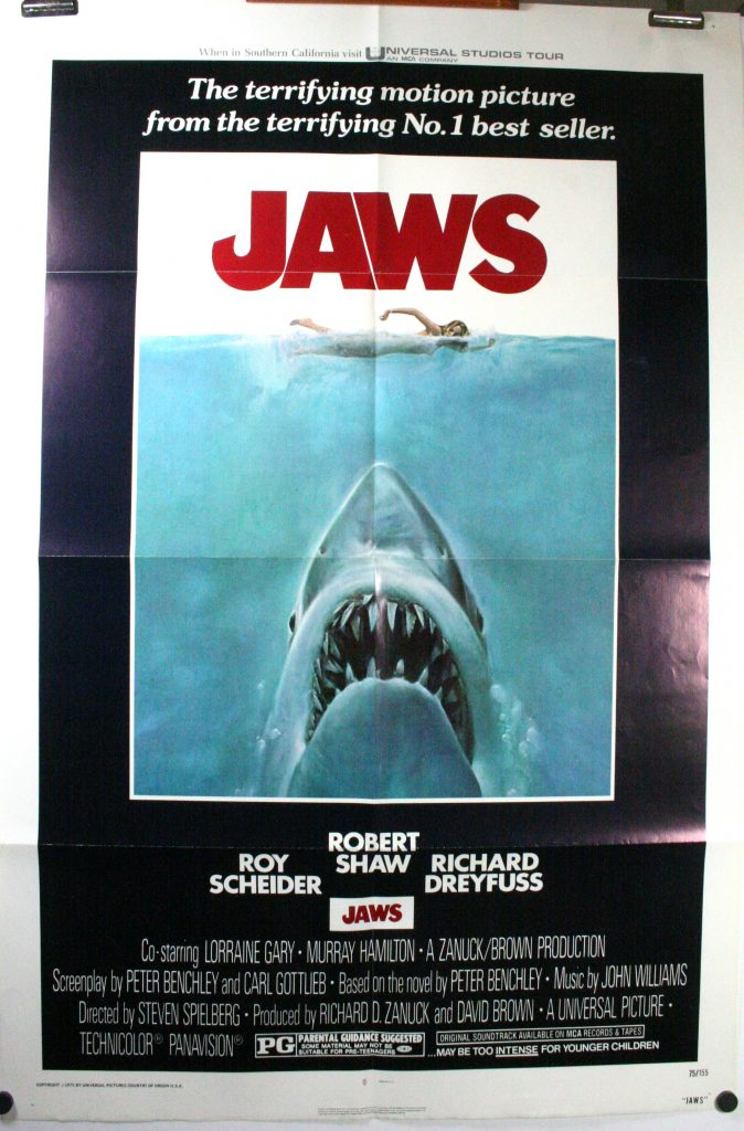 JAWS, Richard Dreyfuss, Steven Spielberg Original Horror 1 ...