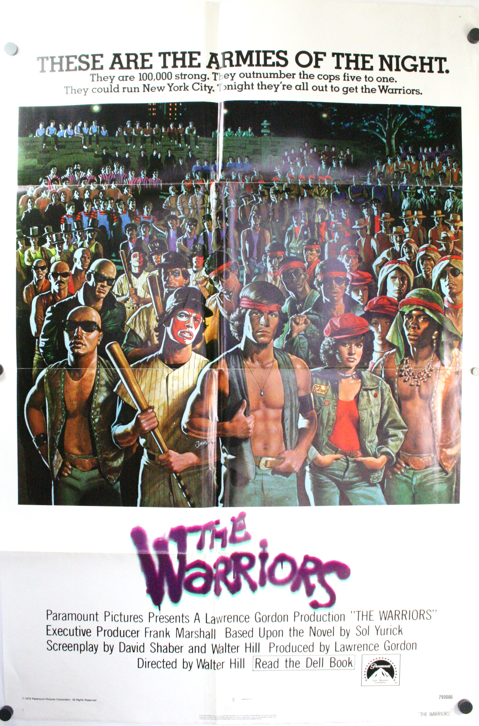 the warriors 1979 original 1 sheet movie theater poster starring    The Warriors Movie Poster