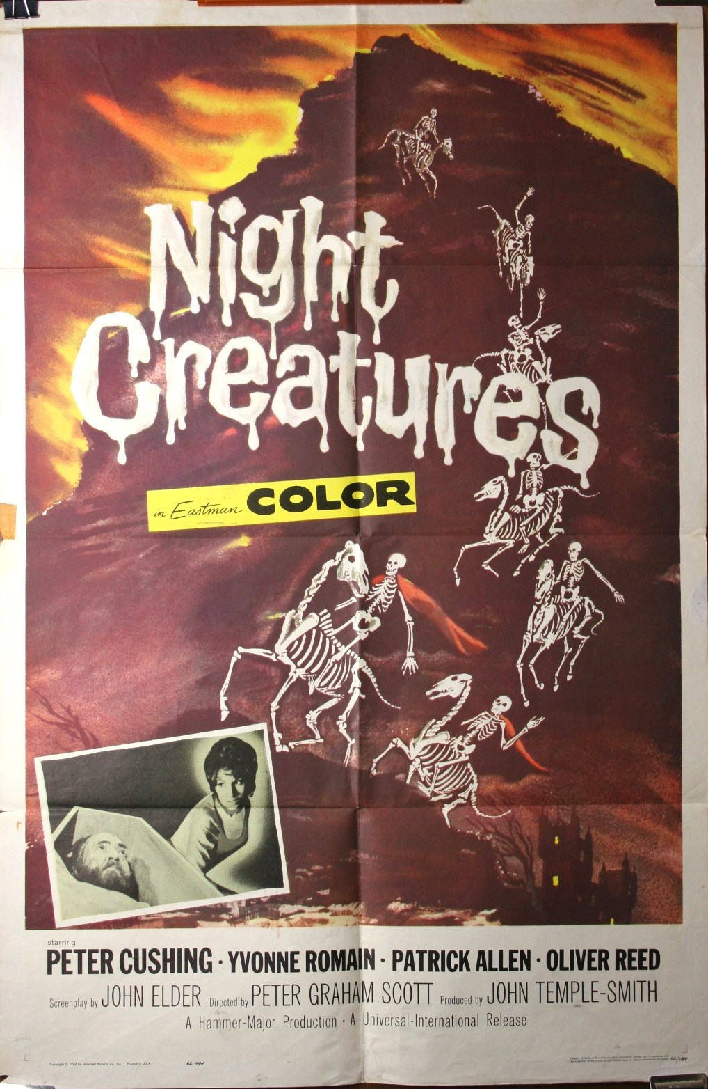 NIGHT CREATURES Peter Cushing Original Hammer Horror Movie Theater