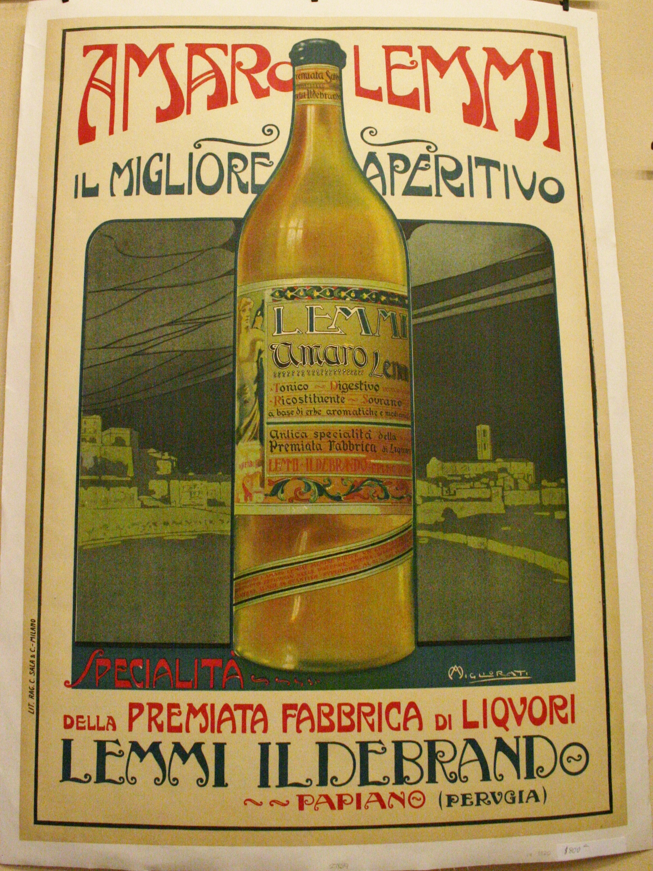 AMARO LEMMI Original Italian Aperitif Advertising Poster