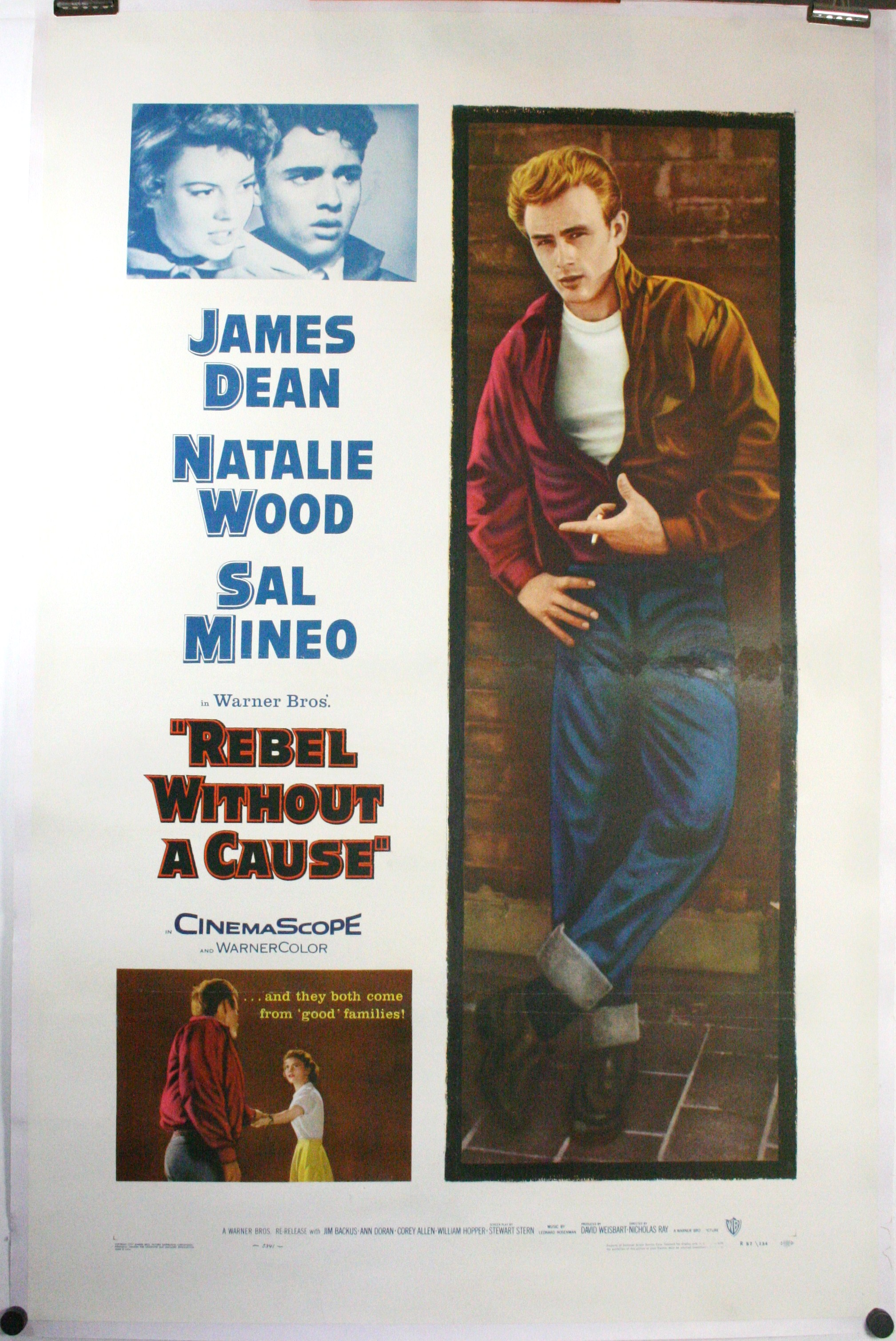 REBEL WITHOUT A CAUSE, Original James Dean Movie Poster