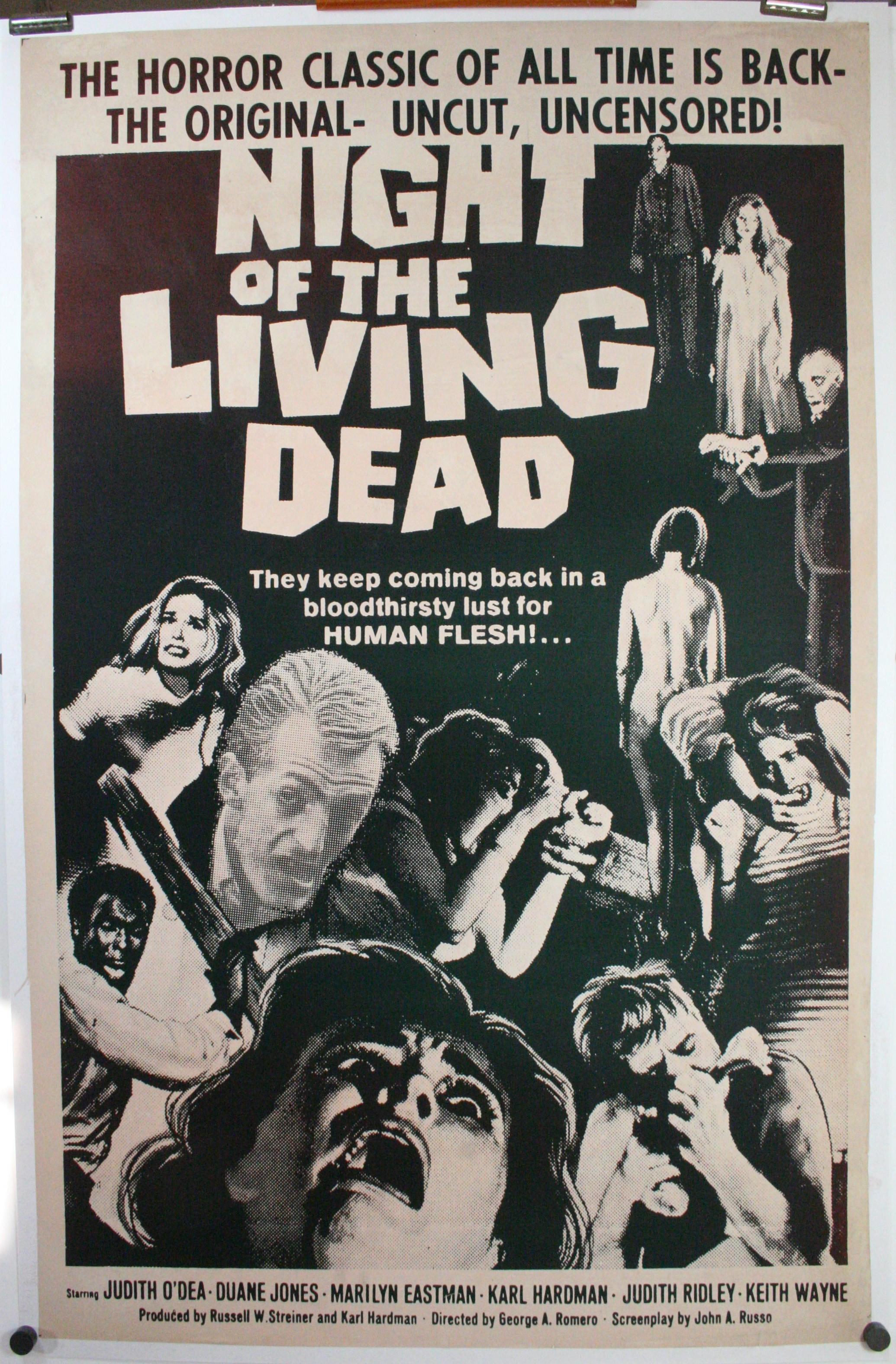 NIGHT OF THE LIVING DEAD, George Romero, Original 1 sheet ...