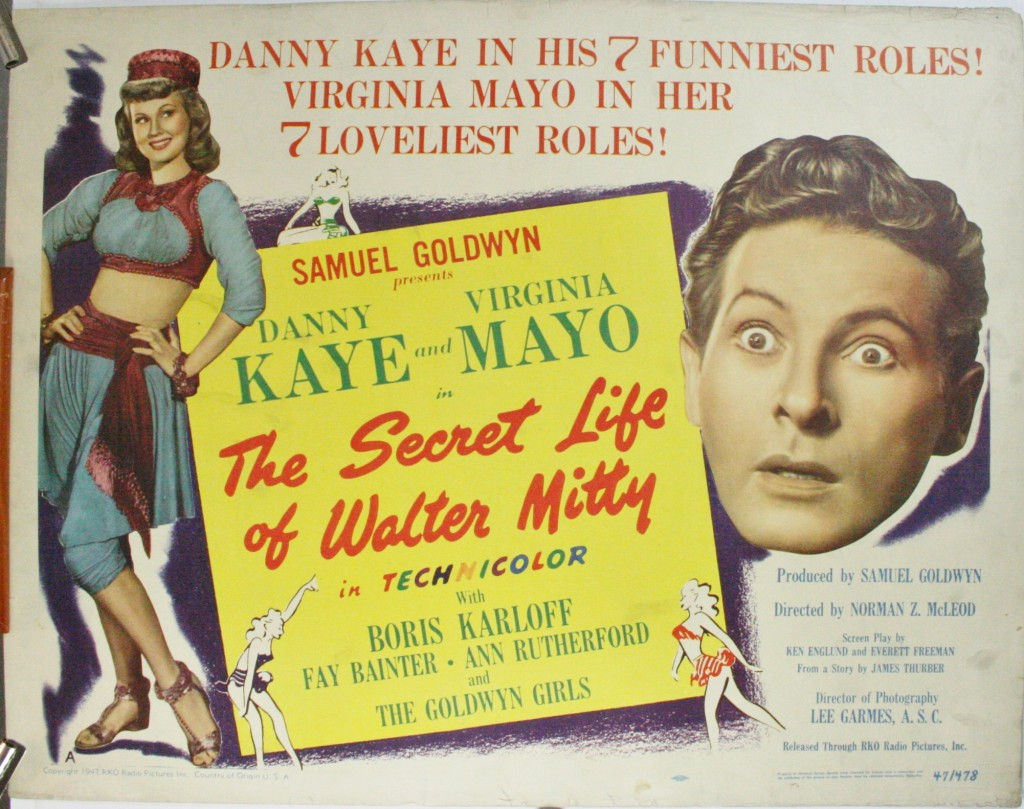 THE SECRET LIFE OF WALTER MITTY, Original Danny Kaye Movie ...