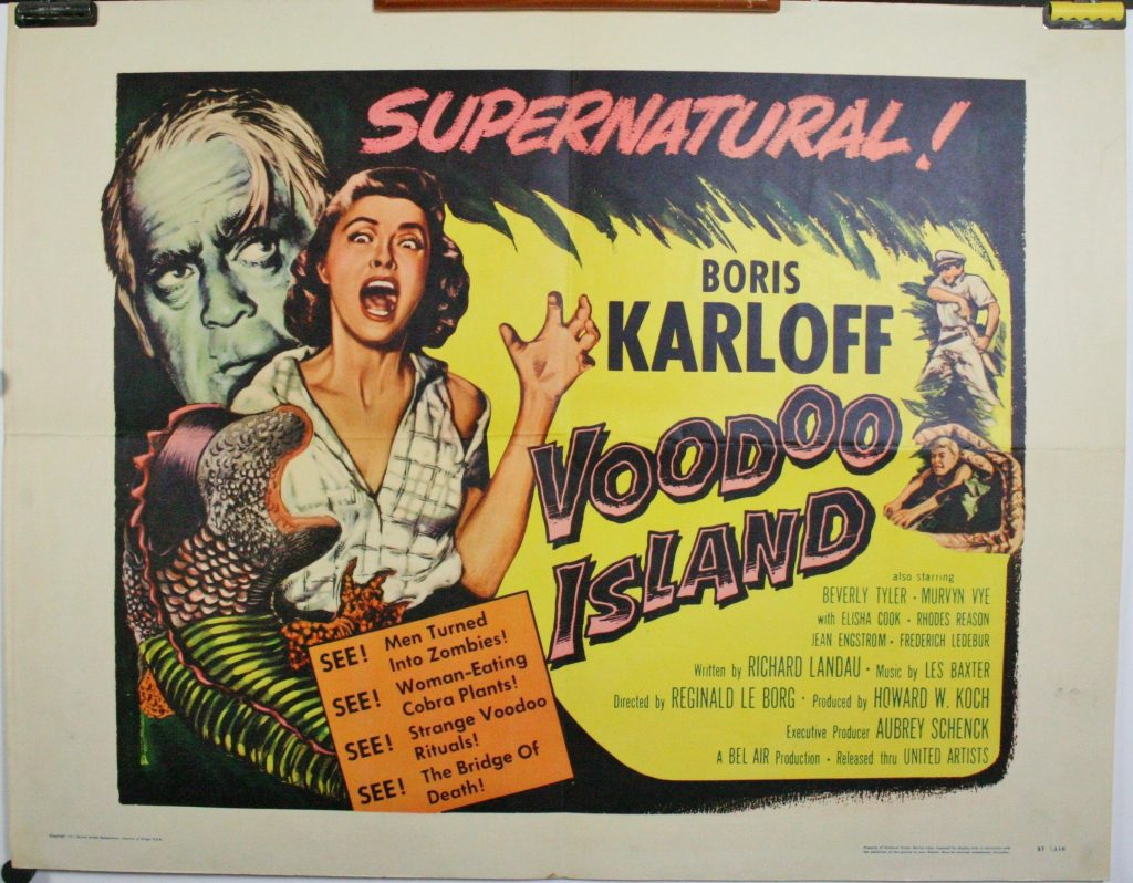 VOODOO Island Vintage Horror Movie Poster