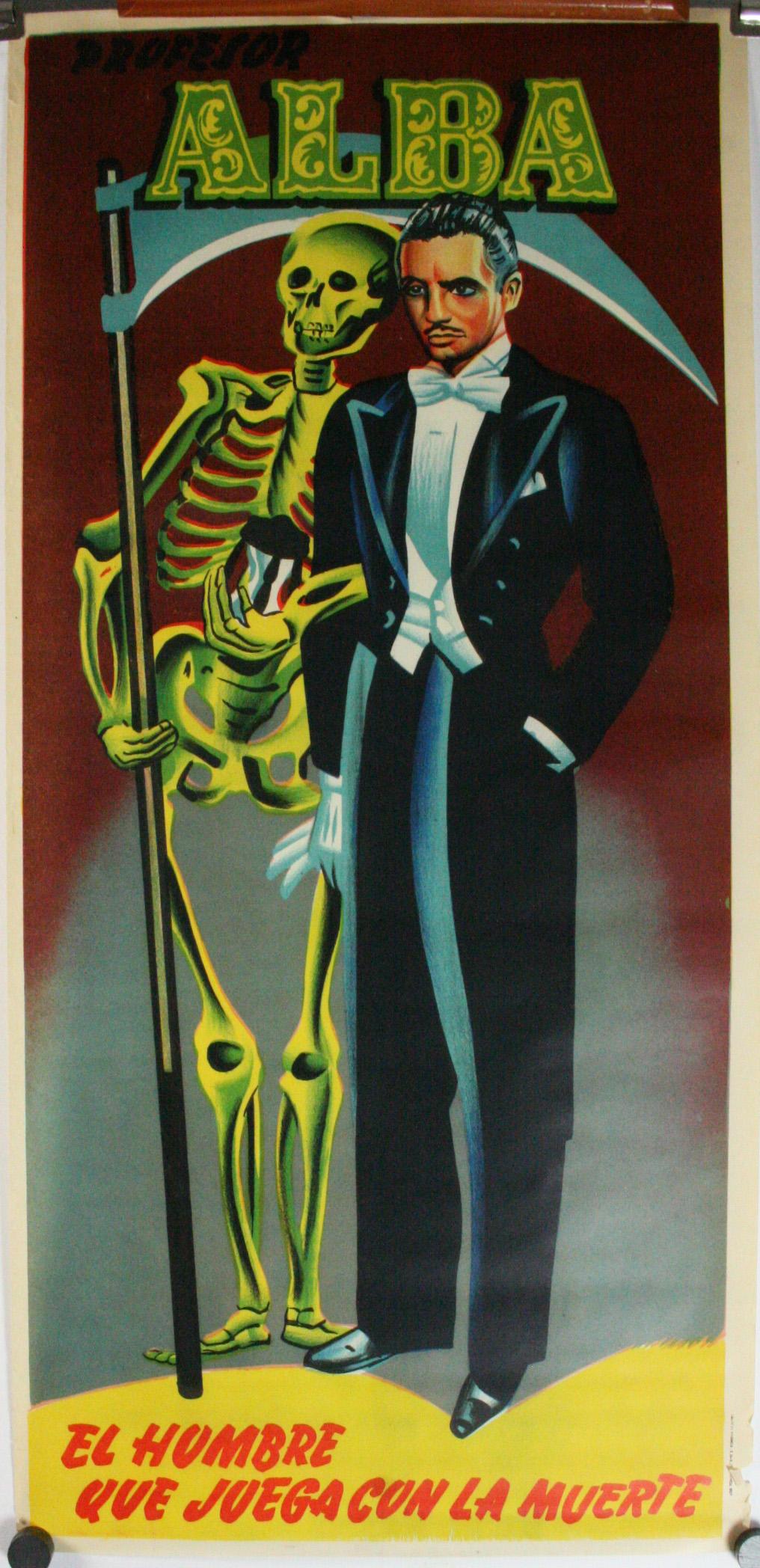 Professor Alba, Original Magic Hypnotist Psychic Poster