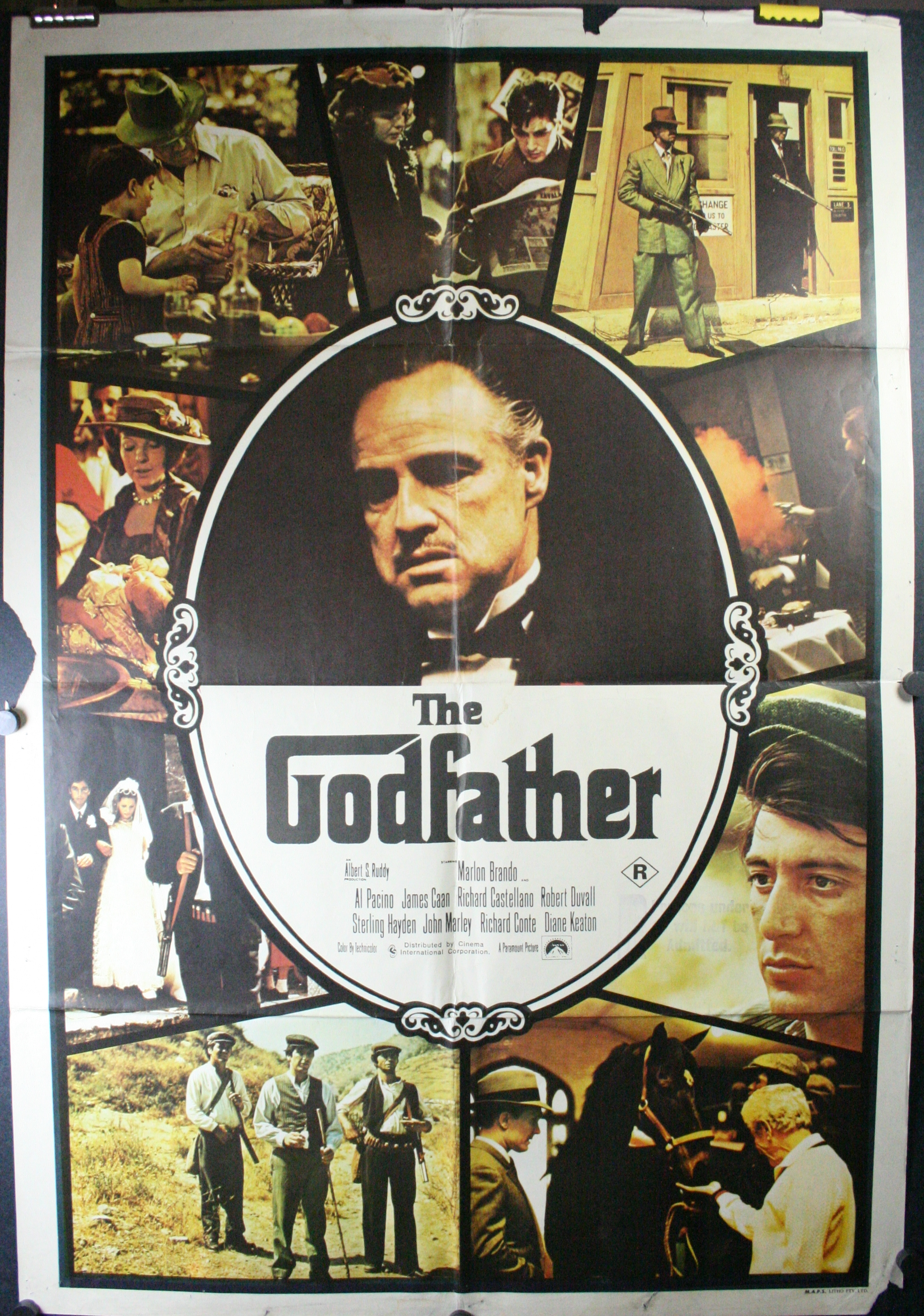 Framed the godfather poster