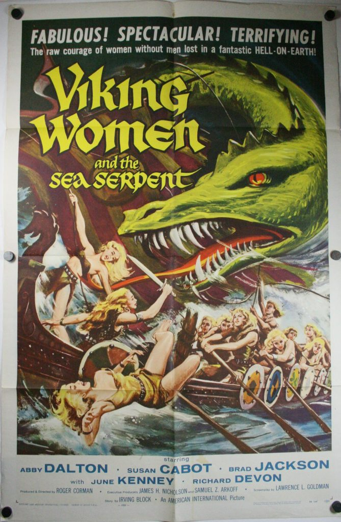 Viking Woman and the sea serpent