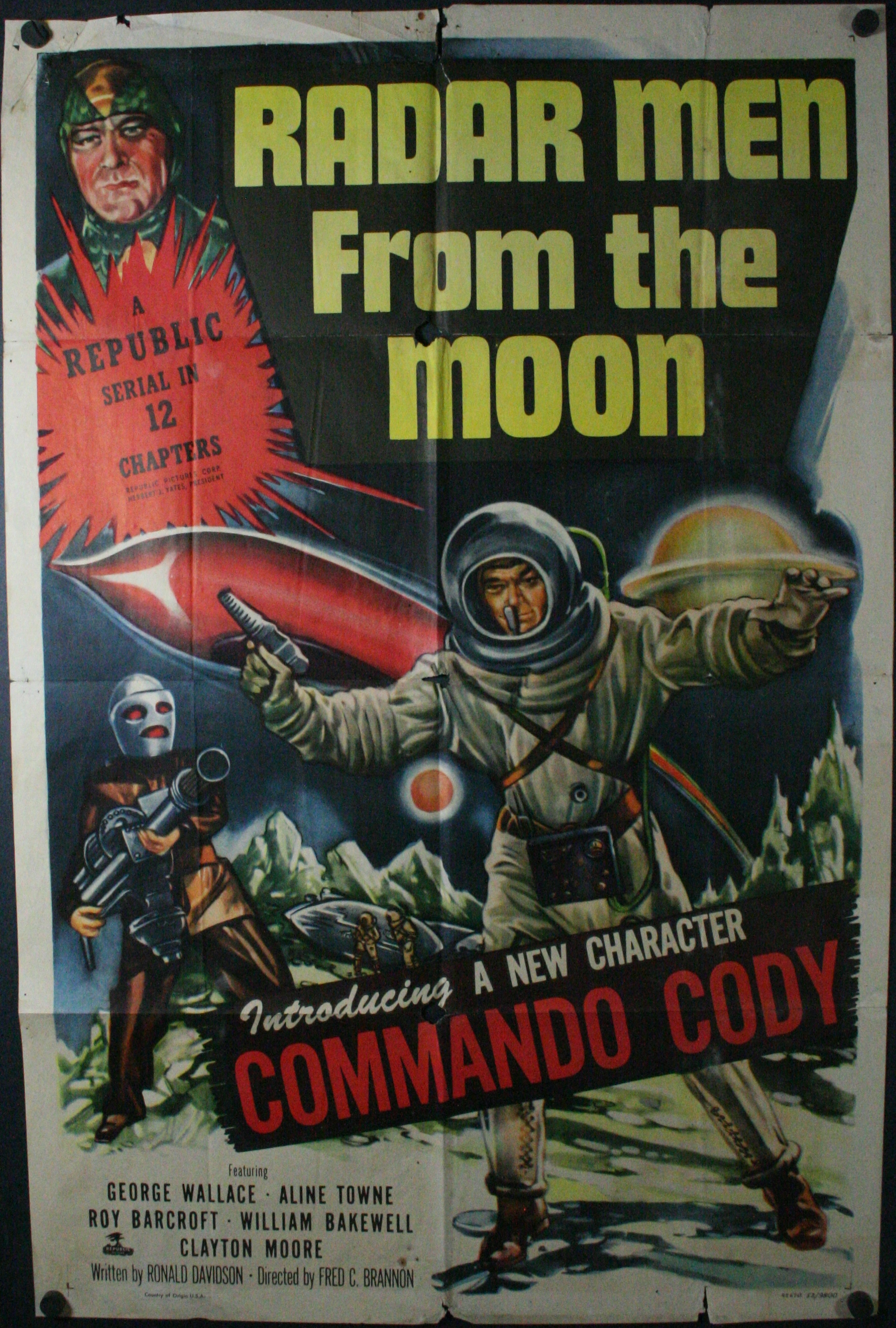 The moon original commando cody serial sci fi movie theater poster