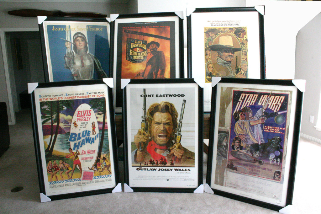 Framed and matted posters for sale