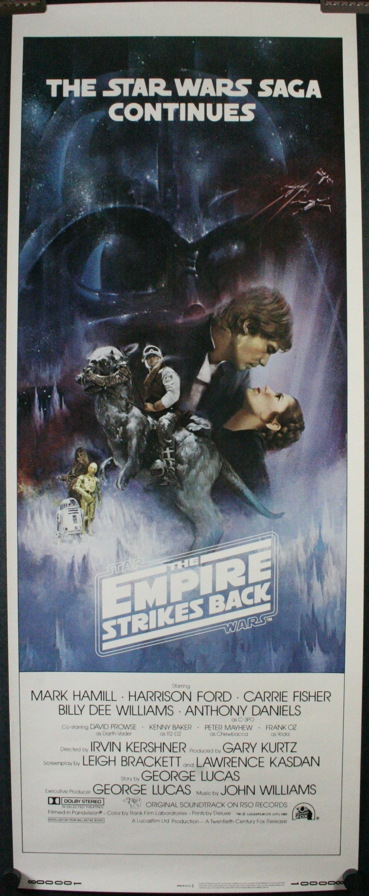 EMPIRE STRIKES BACK, US Insert Movie Poster Authentication