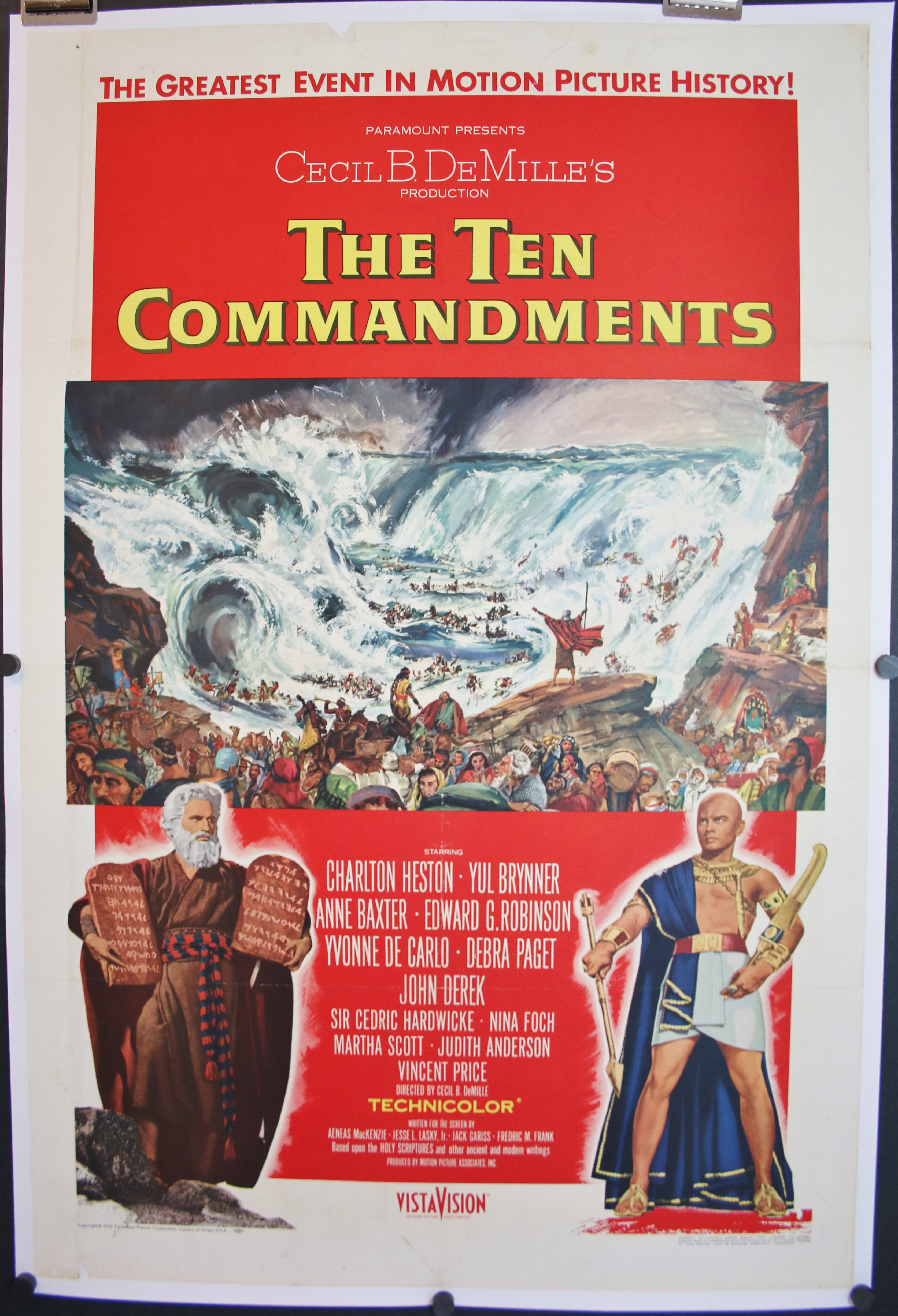 TEN COMMANDMENTS, Original Style A Movie Poster For Sale