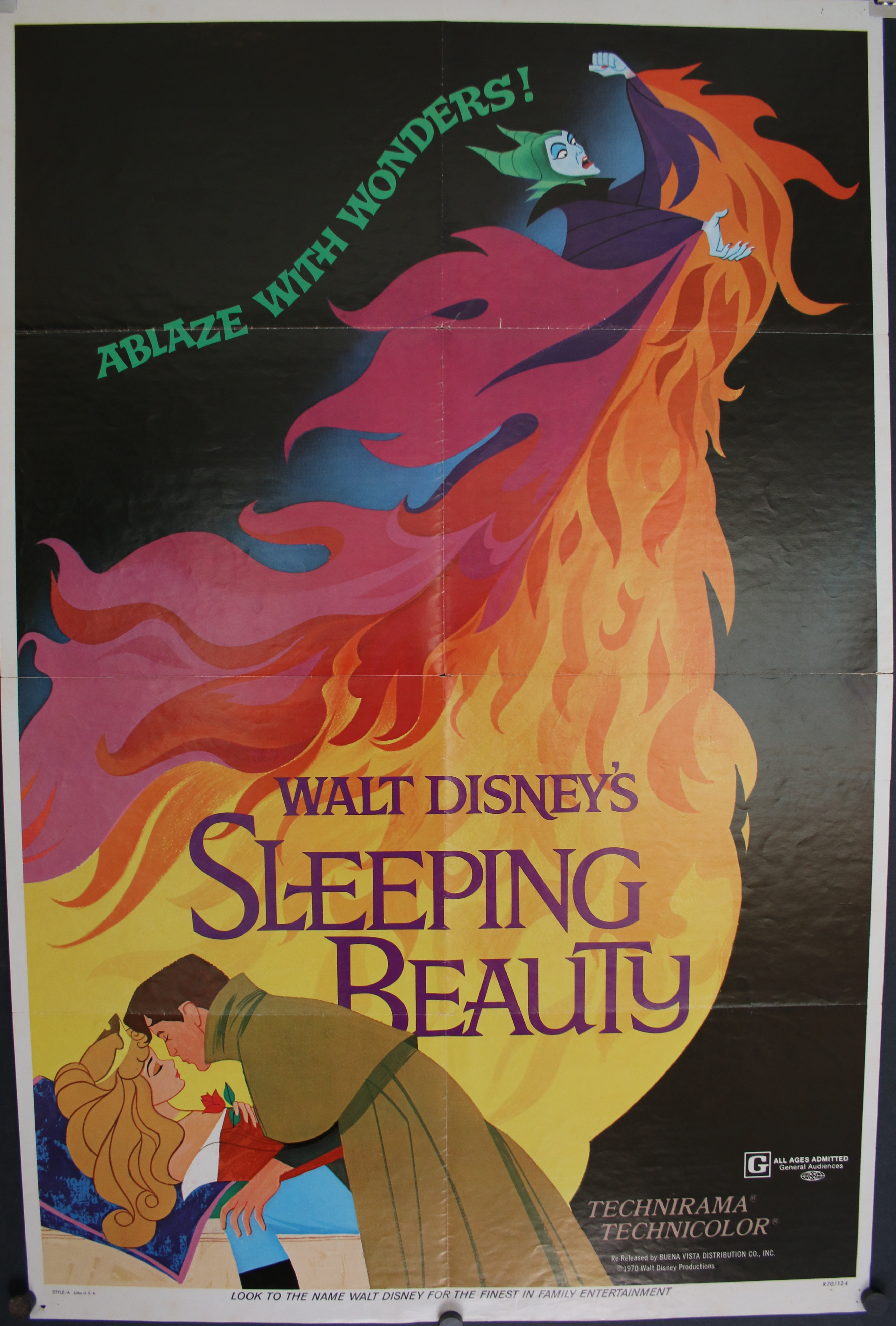SLEEPING BEAUTY, Original Vintage Walt Disney Movie Poster