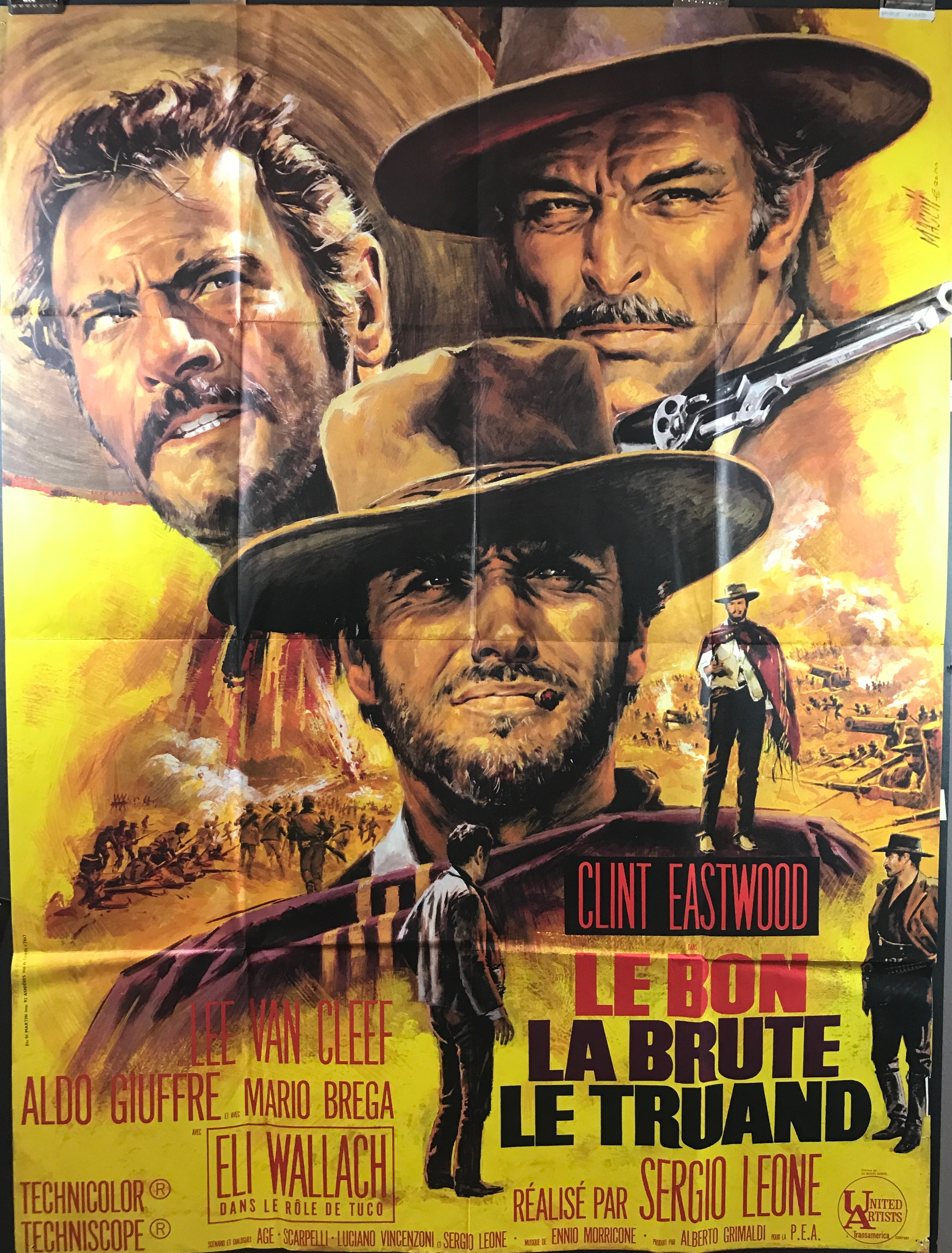 the good the bad and the ugly original french movie poster
