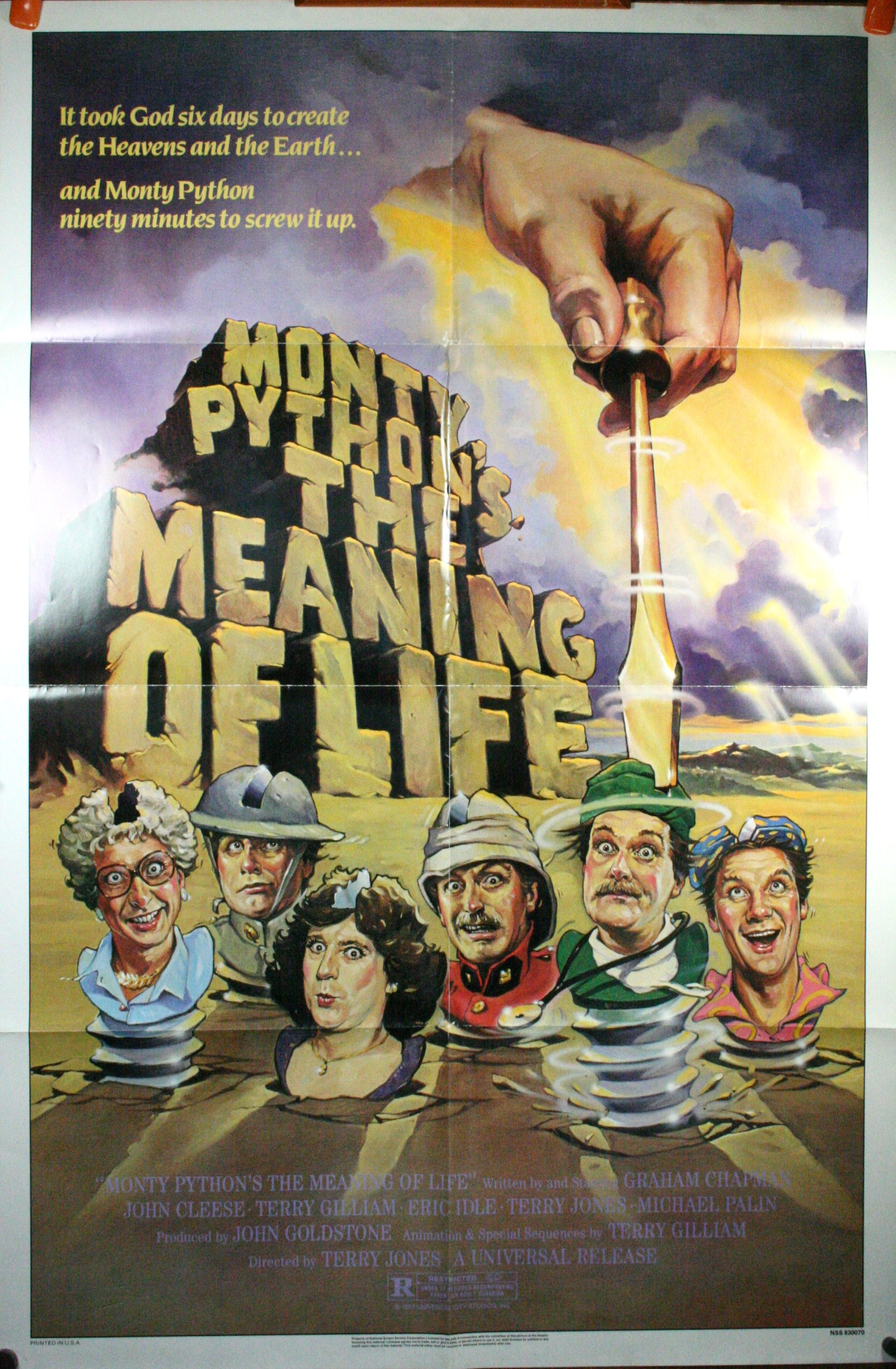 MONTY PYTHON AND THE MEANING OF LIFE, film poster Terry Gilliam Meaning Of Life