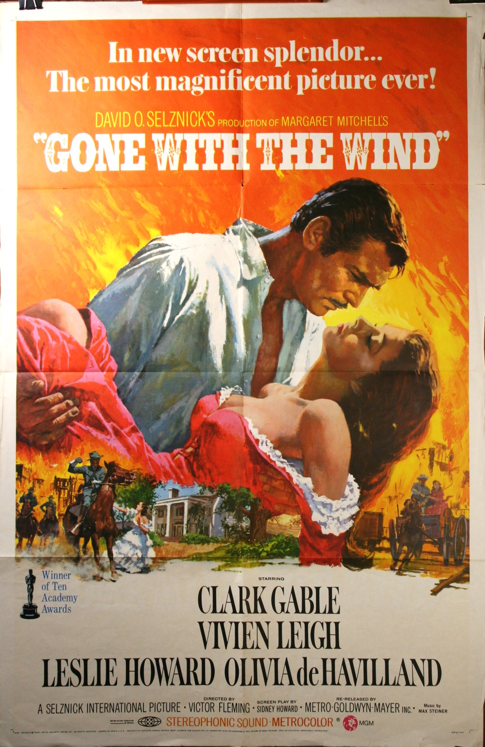 GONE WITH THE WIND, Original Film Poster