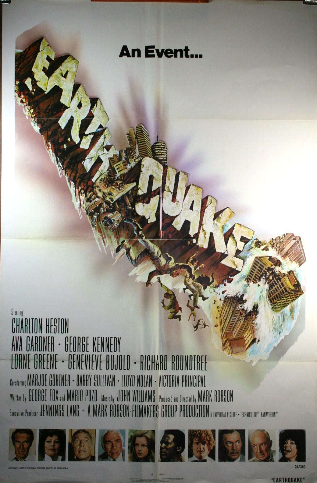 Earthquake 1 Sheet Movie Poster