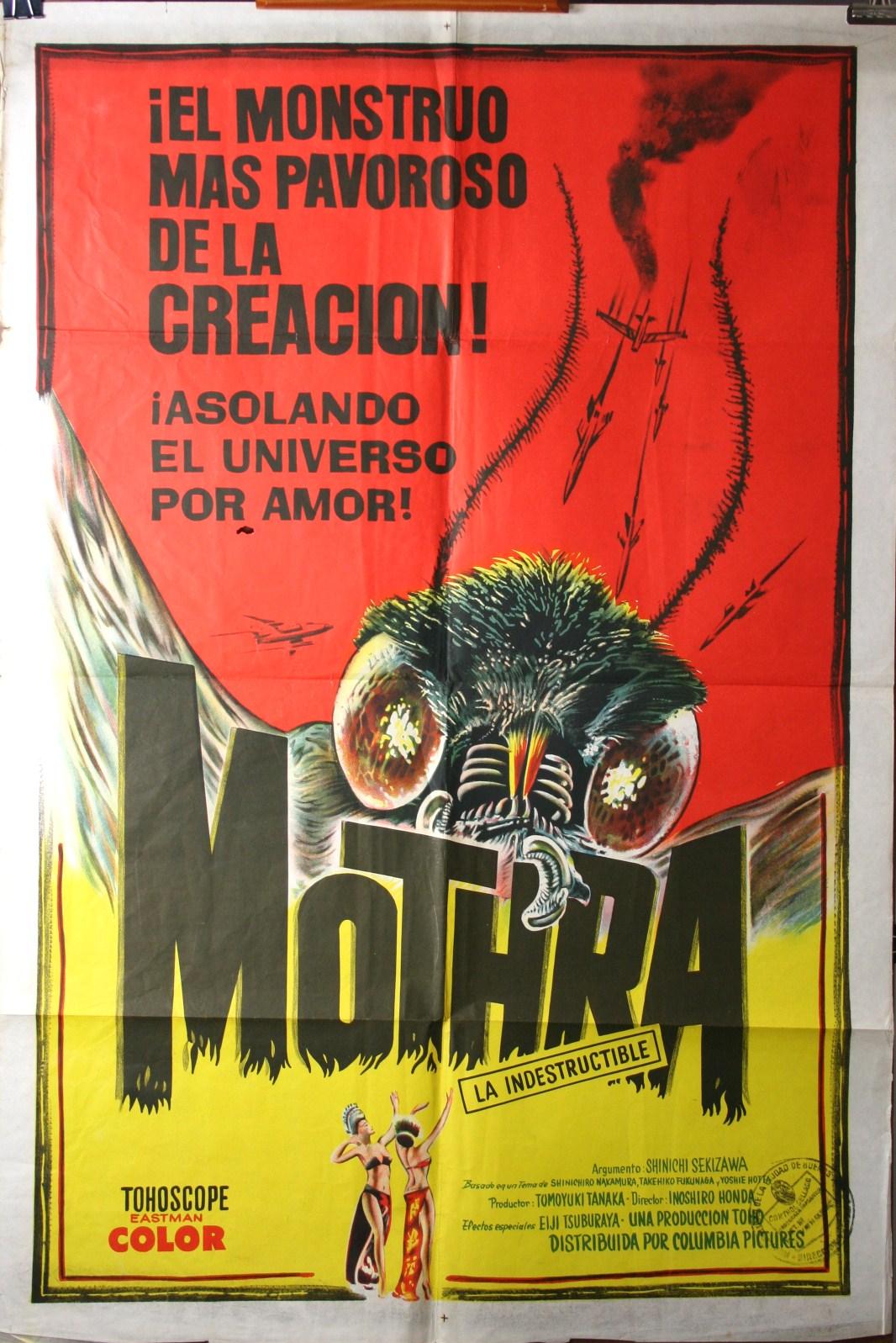 Mothra Spanish 1 Sheet Poster Original Vintage Movie
