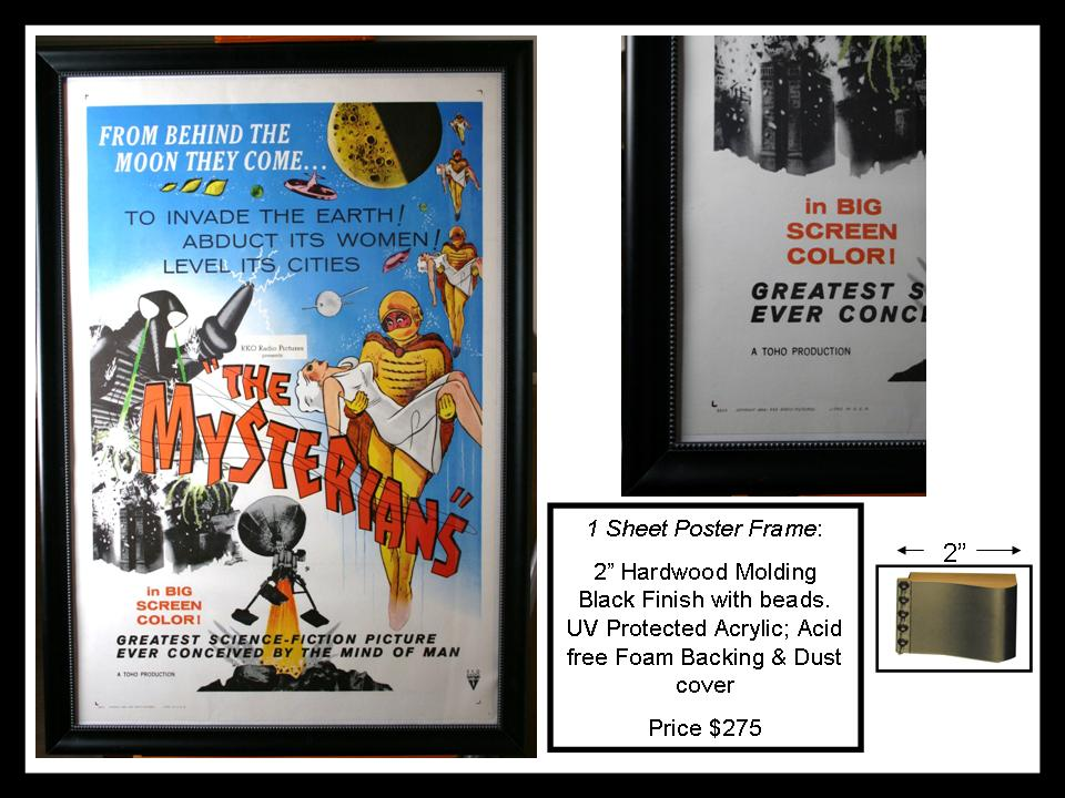 Movie Poster framing. For standard 1 sheet movie posters measuring 27 ...