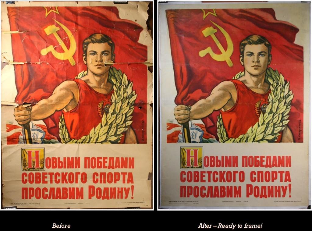 Soviet Propaganda Poster, Tier 4 Restoration