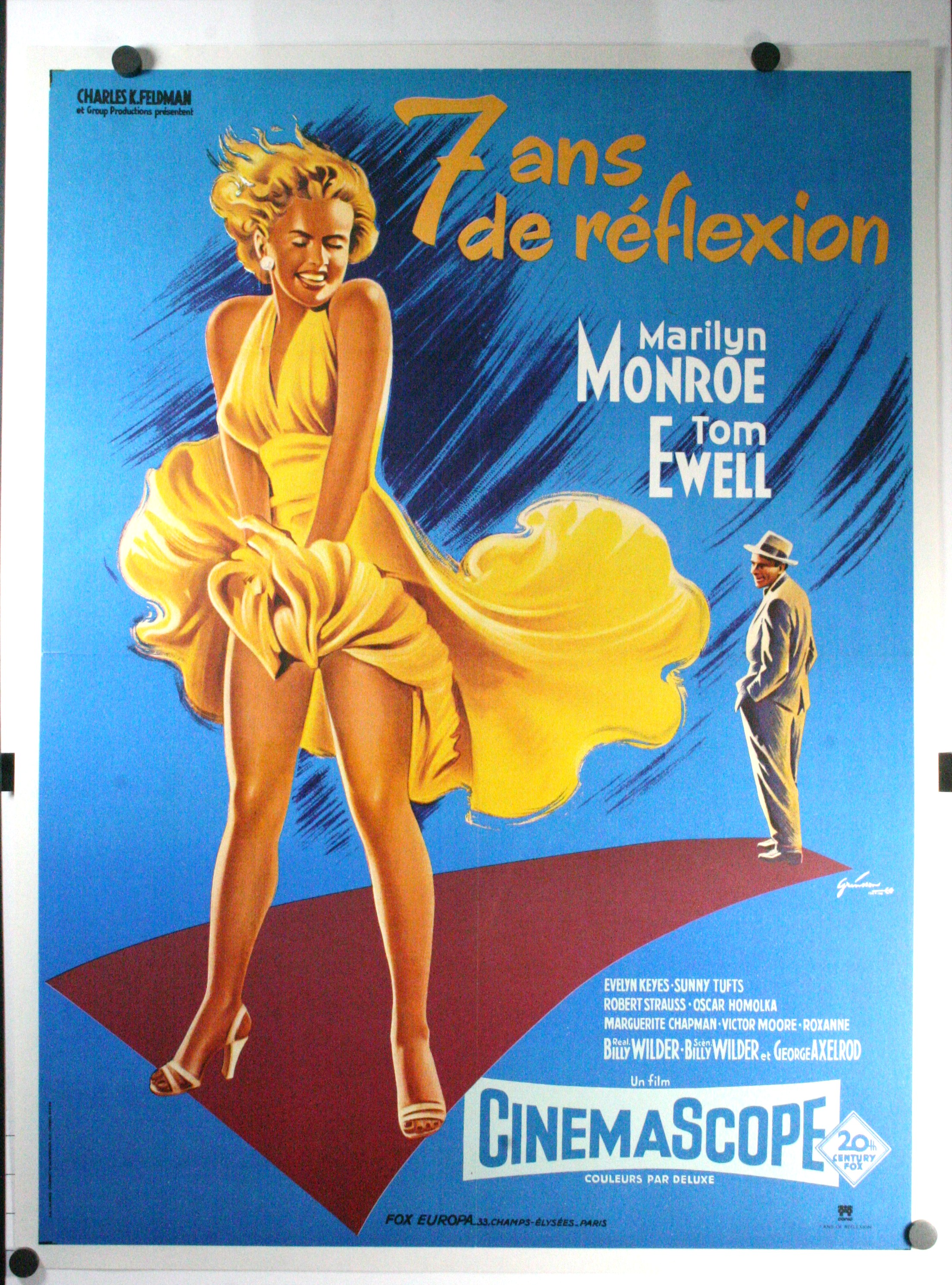 seven year itch marilyn monroe french movie poster. Black Bedroom Furniture Sets. Home Design Ideas