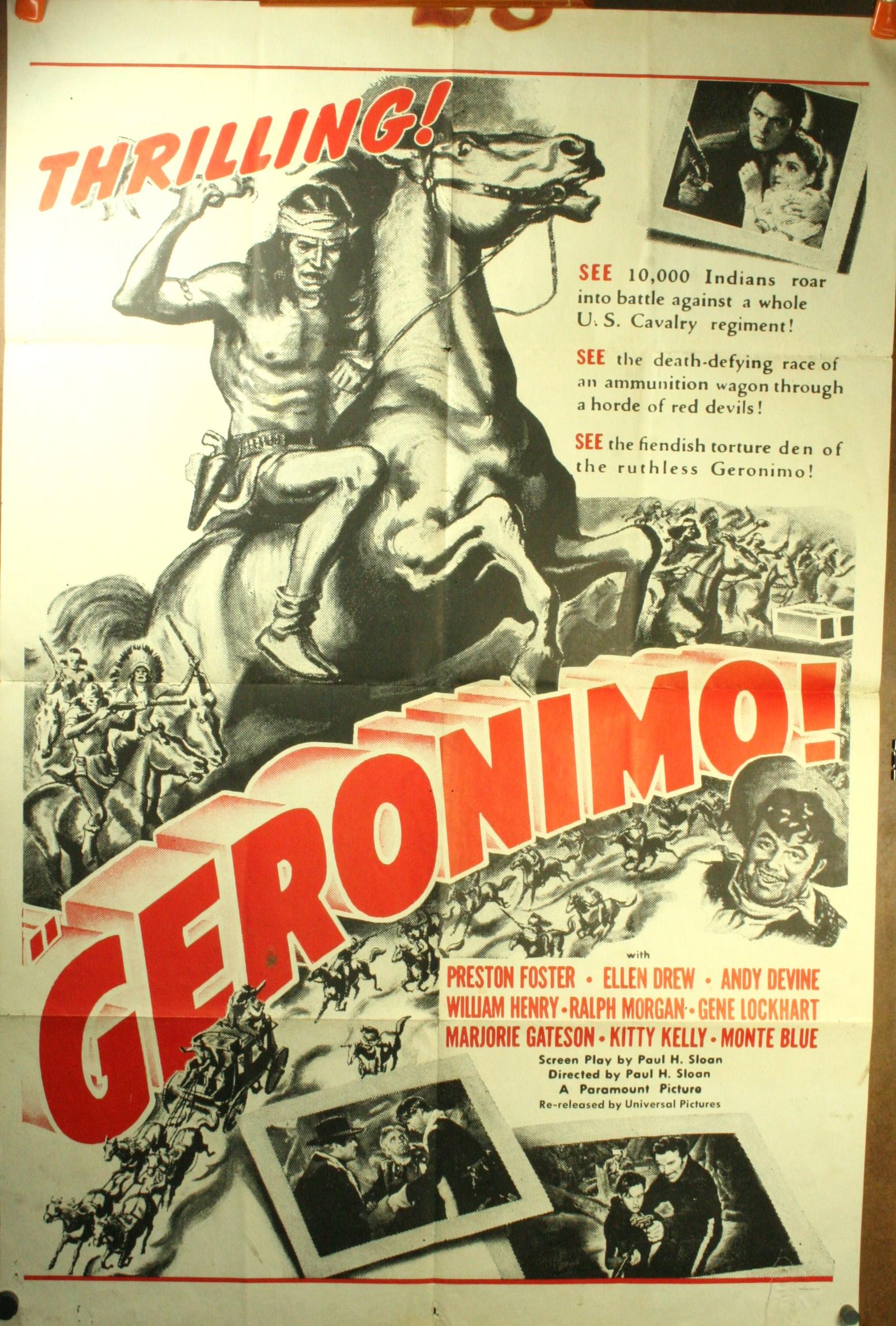 Geronimo movie poster for Yugoslavia market 1962